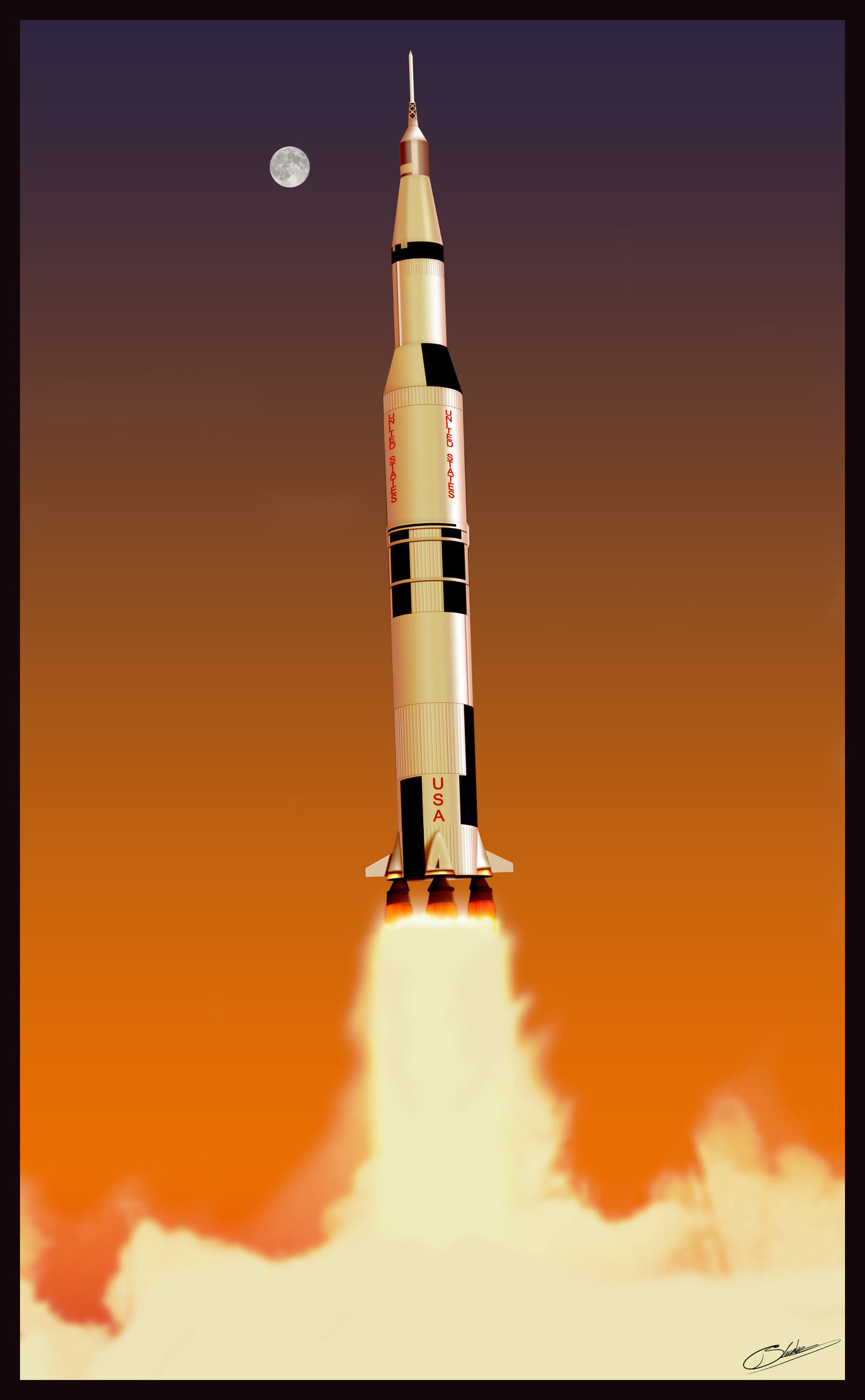 1470x2380 Filename: Saturn_V_rocket_Vector_100_by_rogelead.jpg