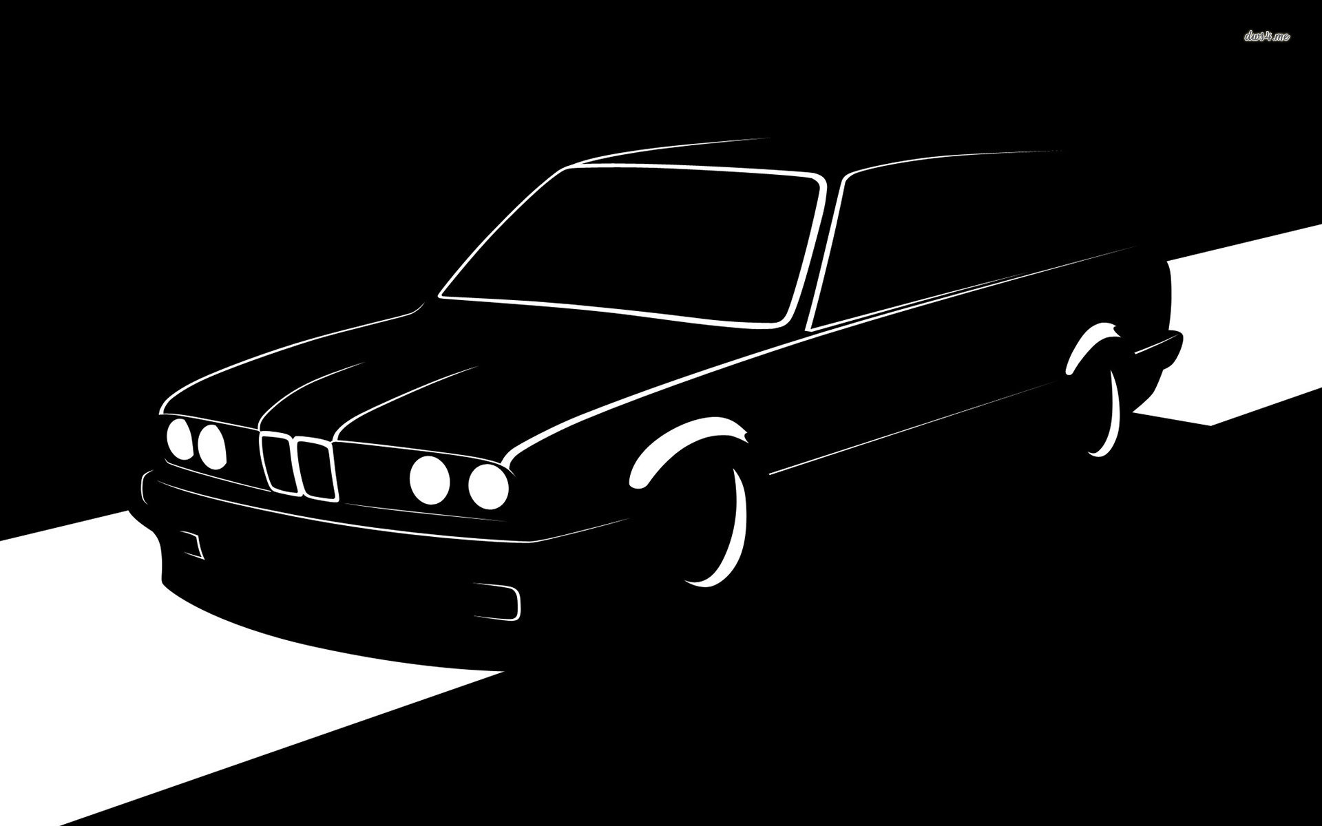 1920x1200 ... BMW E30 Touring silhouette wallpaper  ...