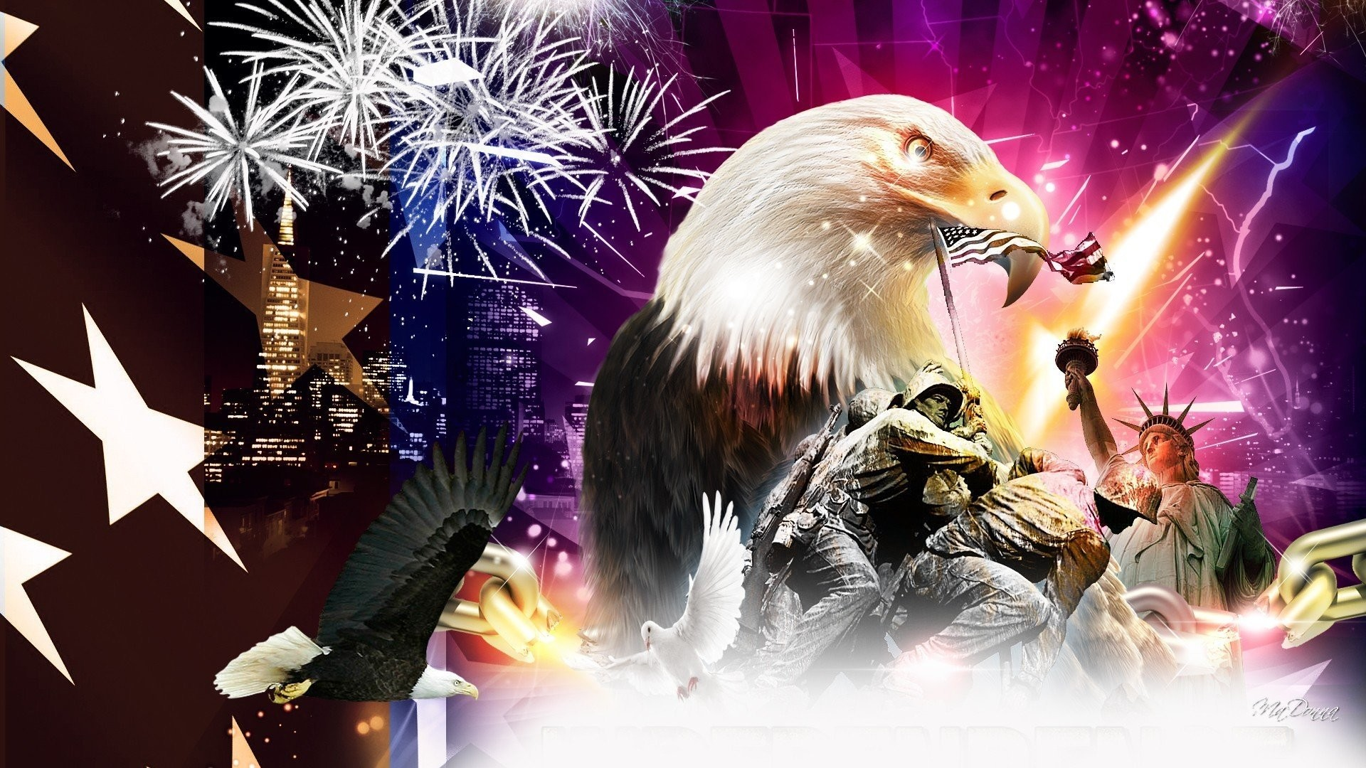 1920x1080 4th july fireworks eagle mood america usa wallpaper |  | 421613 |  WallpaperUP