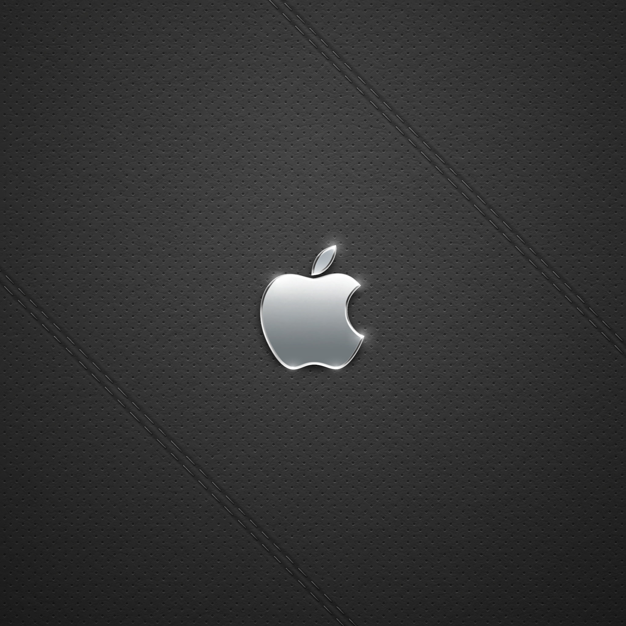 2048x2048 16495 21: Black Leather Logo iPad wallpaper