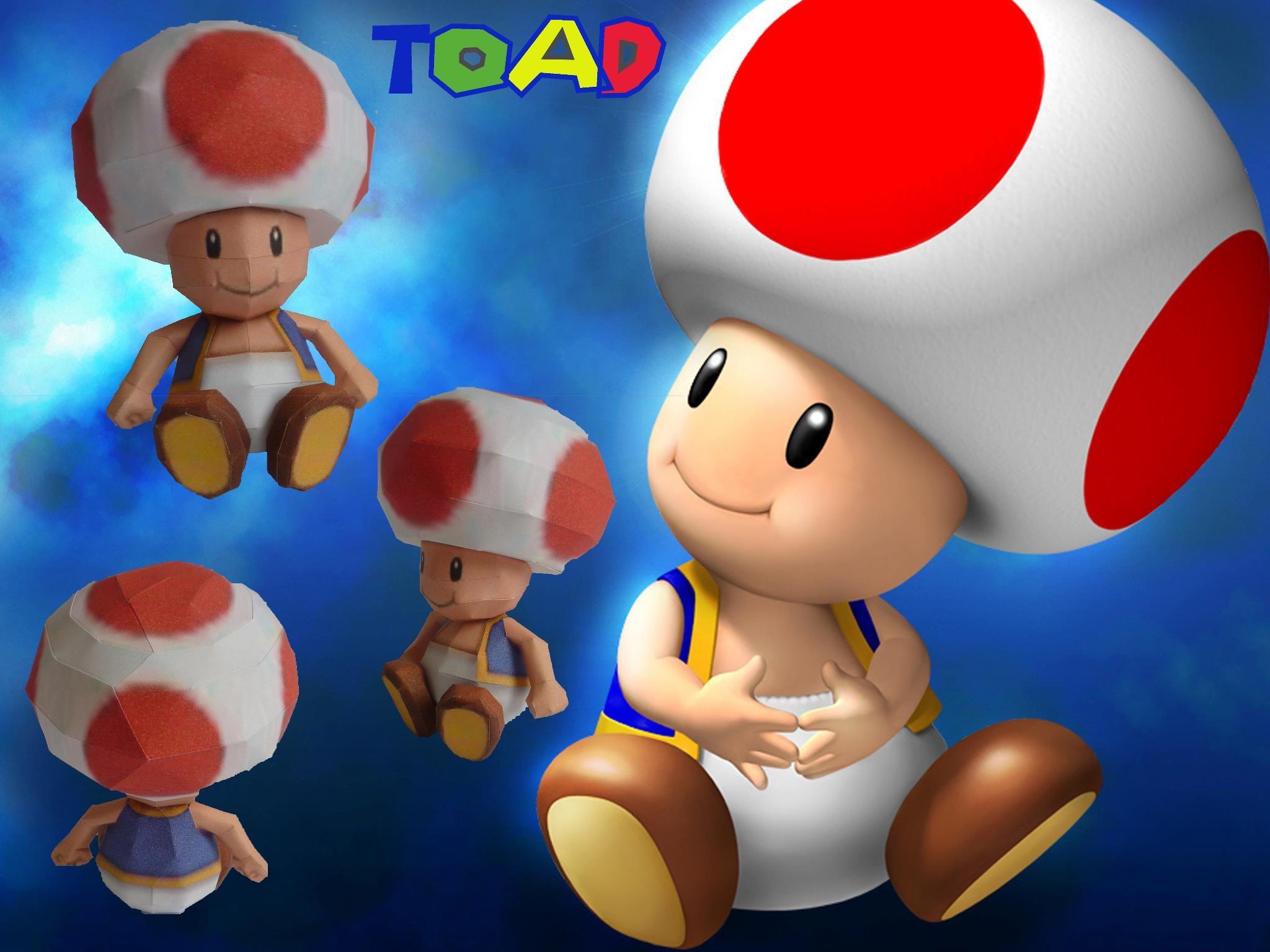 2048x1536 Toad papercraft by dodoman75 Toad papercraft by dodoman75