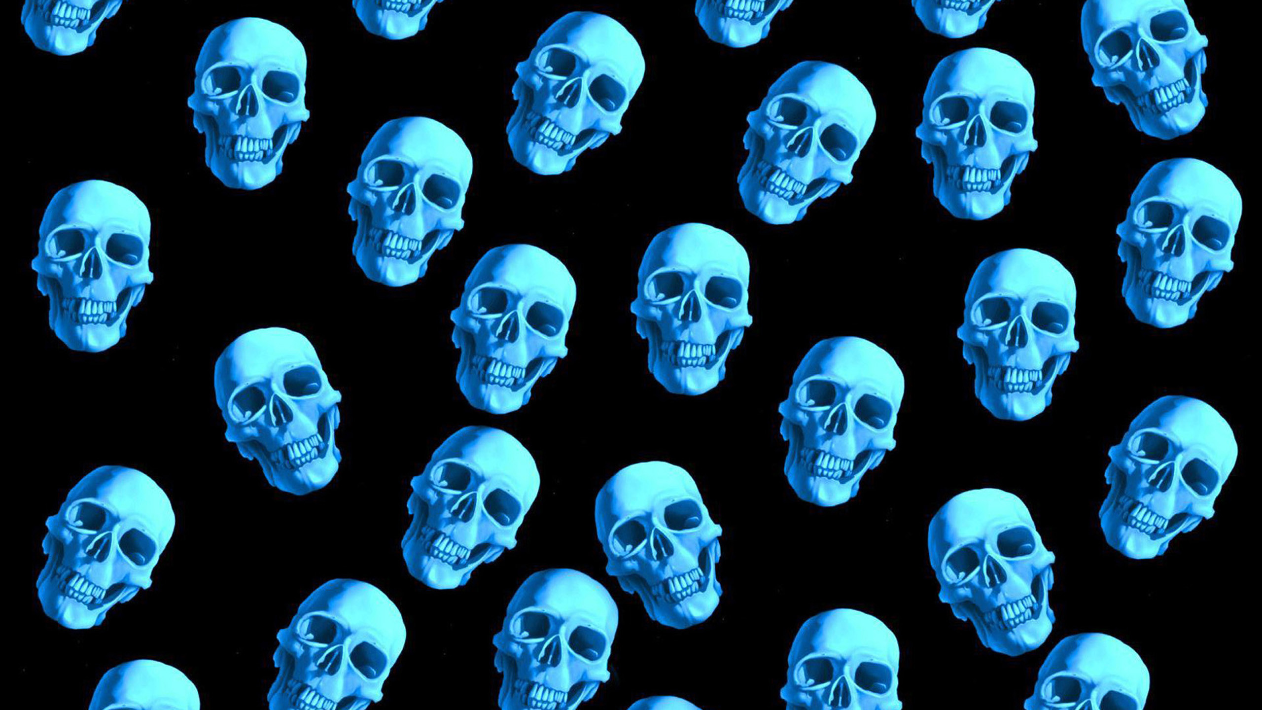 2560x1440 Blue Skull Backgrounds 38 Wallpapers