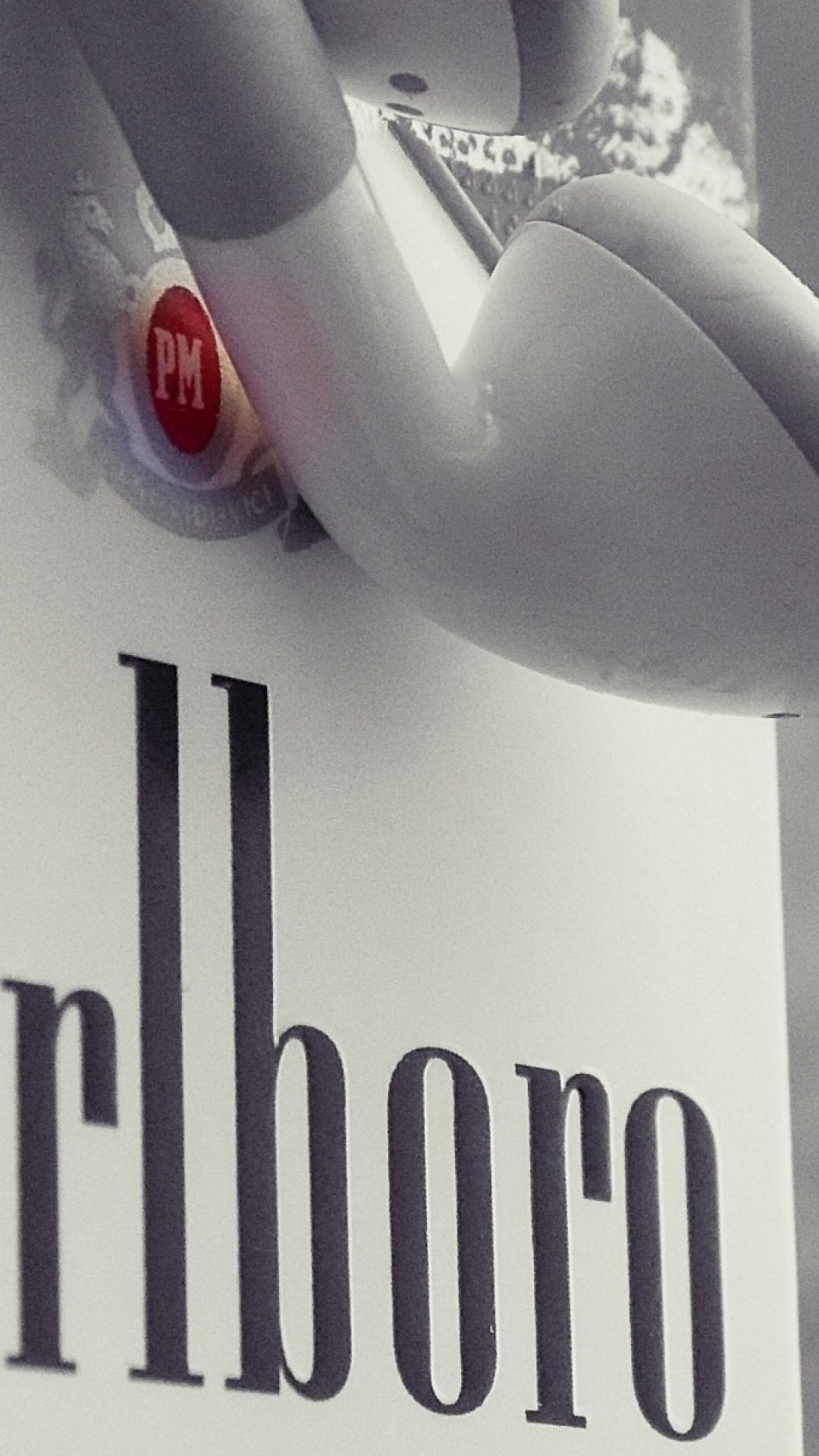 1080x1920 Wallpaper Marlboro Cigarettes Apple Headphones Brand