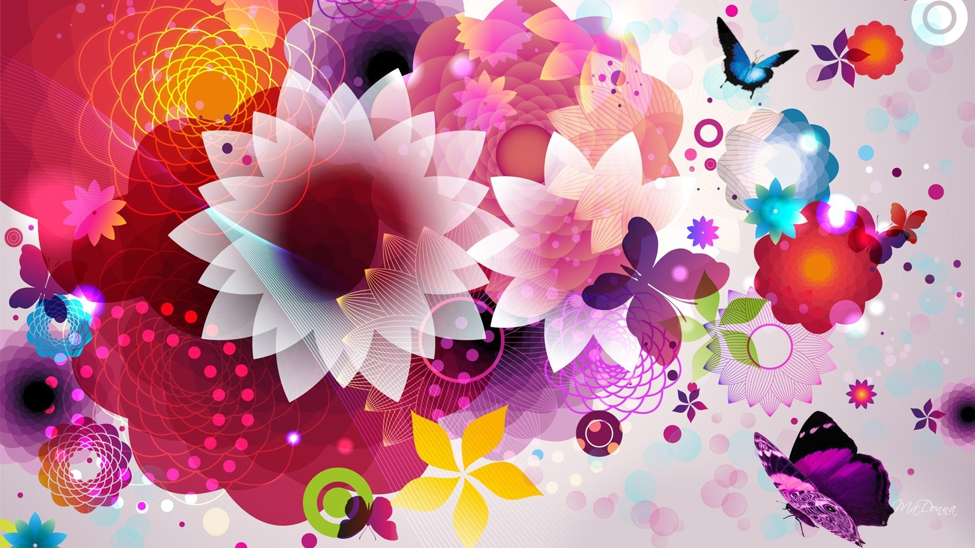 Free Colorful Flower Desktop Wallpaper: Colorful Flower Wallpapers (77+ Images