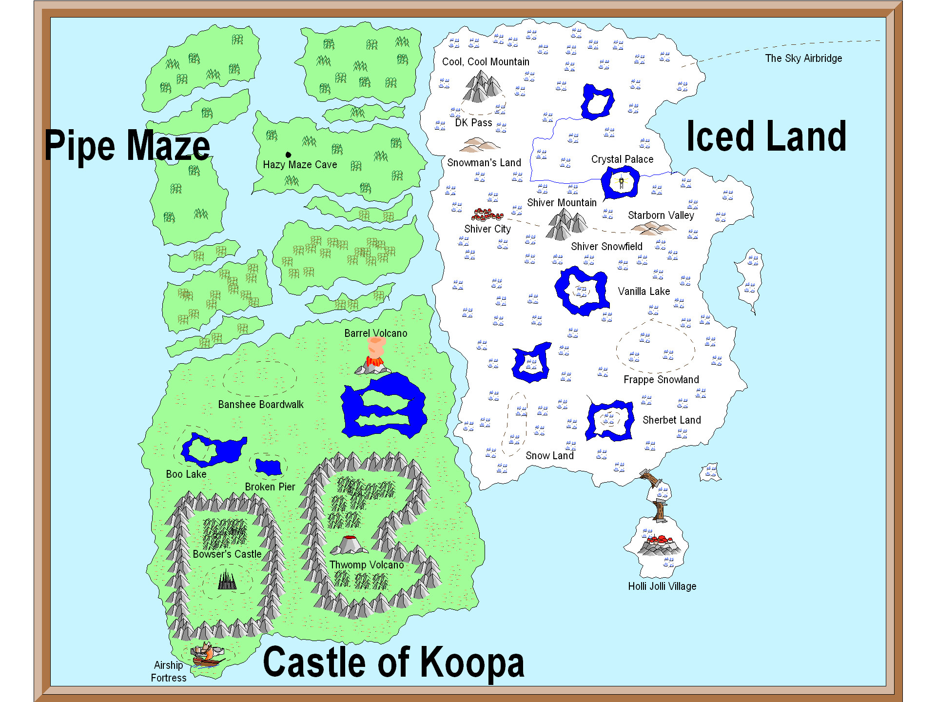 1920x1440 These include locations from more recent games as well, and while the Super  Mario Advance map shows most of these lands as separate islands, ...