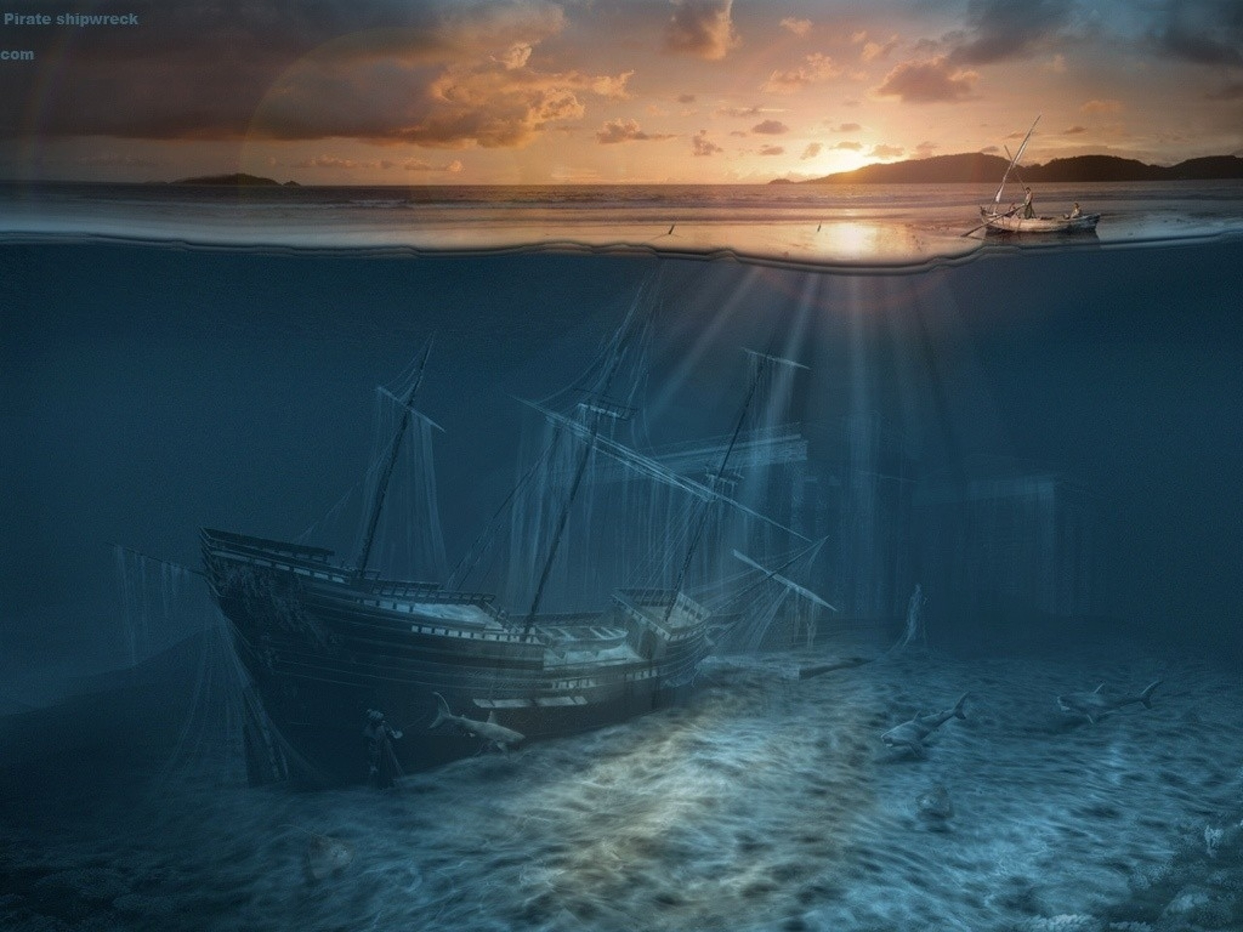 Wallpapers For Scary Halloween Shipwreck Wallpaper www