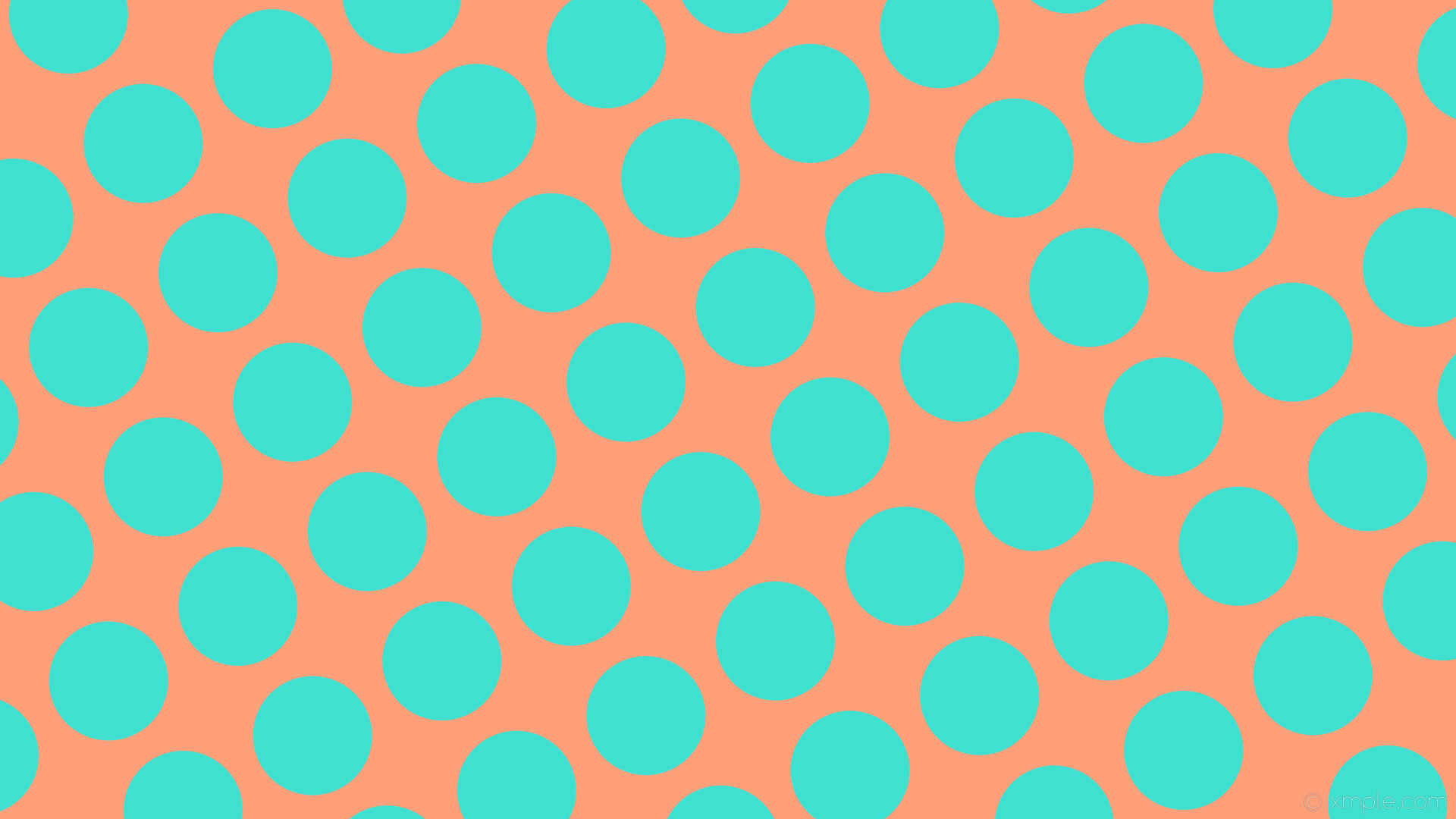 1920x1080 wallpaper spots red polka dots blue light salmon turquoise #ffa07a #40e0d0  210° 157px