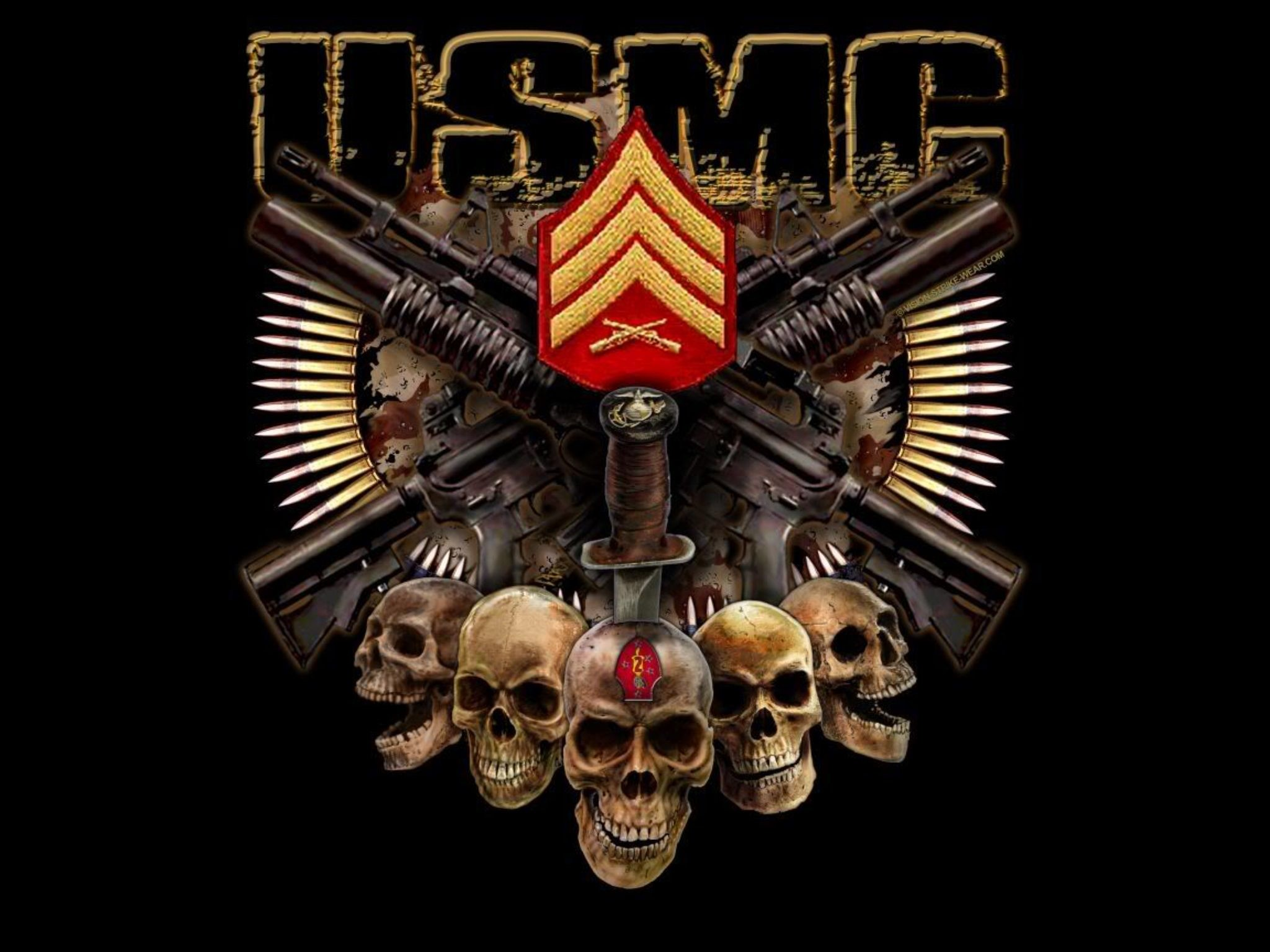 2048x1536 Awesome USMC wallpaper.