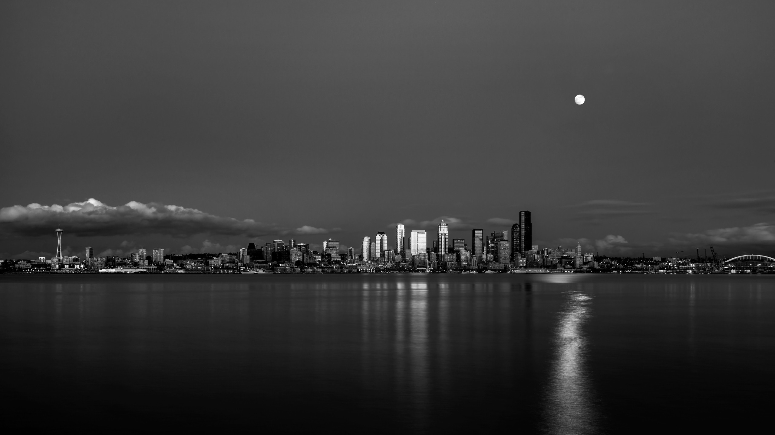 2560x1440 HD Clear. 2560 x 1440. Seattle skyline. | Cityscape Wallpaper | Pinterest |  Seattle skyline and Photography