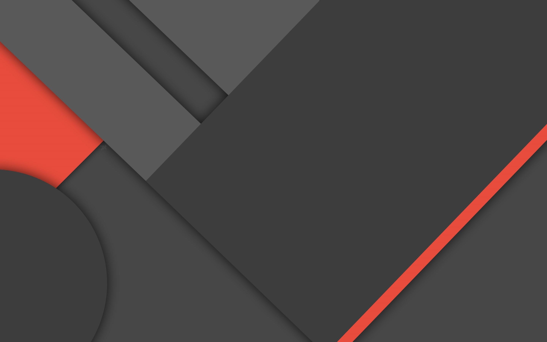 2880x1800 4K HD Wallpaper: Dark Material Design