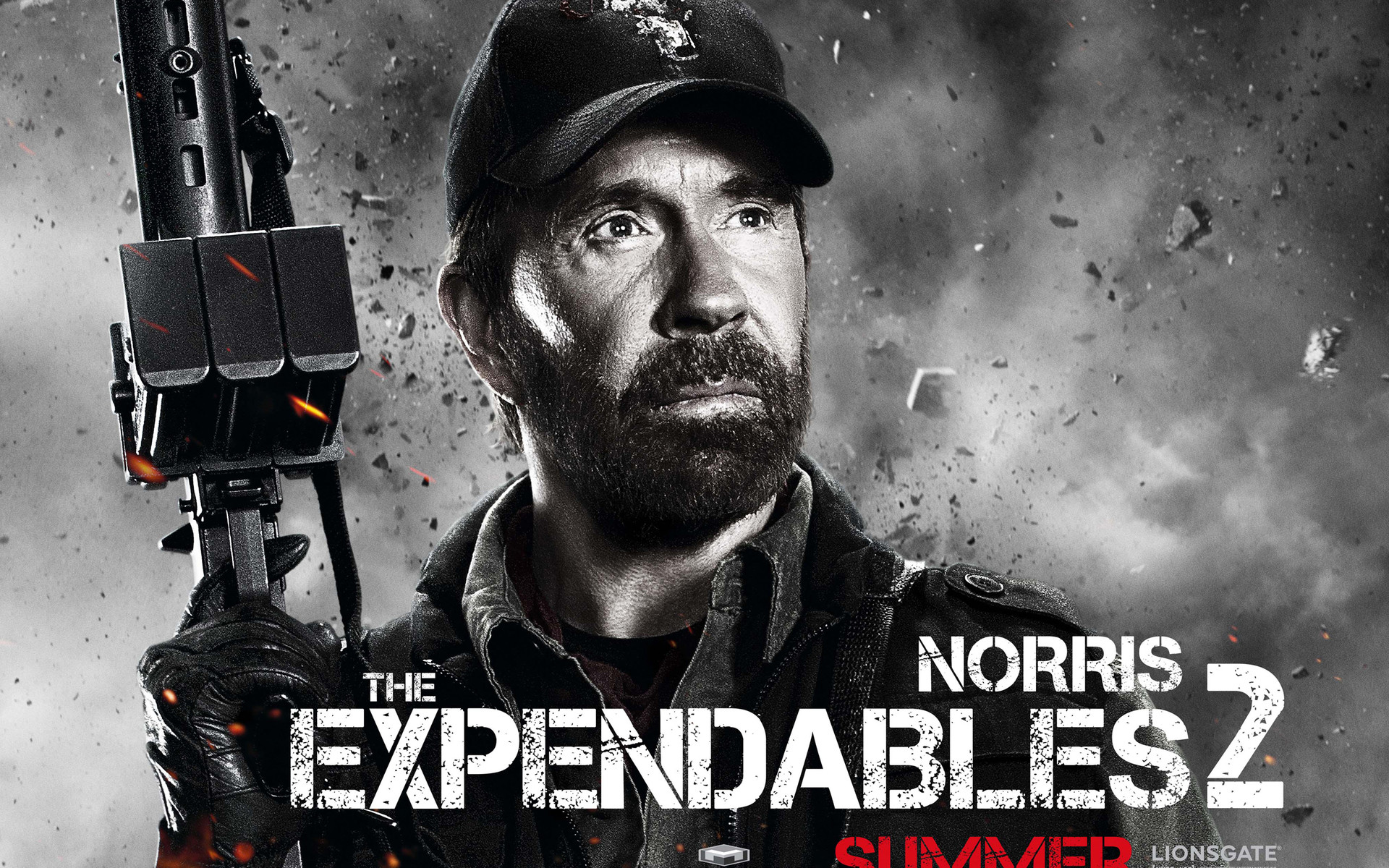 1920x1200 Movie - The Expendables 2 Booker (The Expendables) Chuck Norris Wallpaper