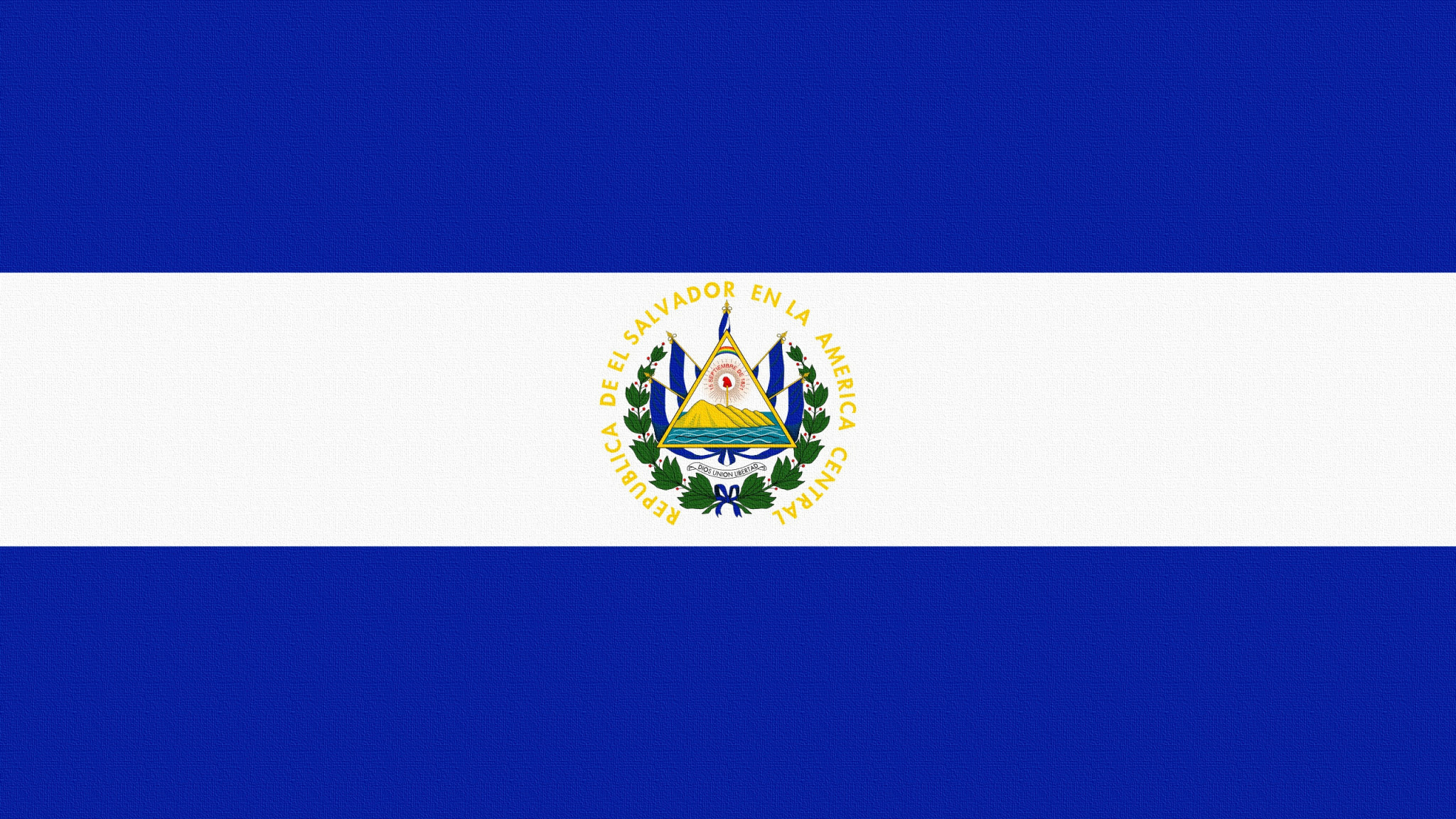 2048x1152  Wallpaper flag, el salvador, lines, symbols