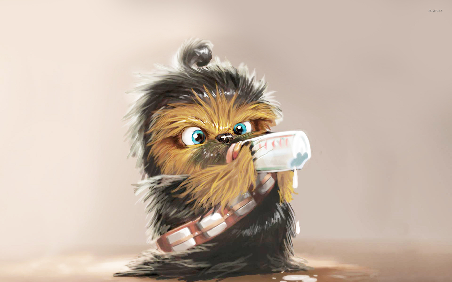 1920x1200 Baby Chewbacca wallpaper