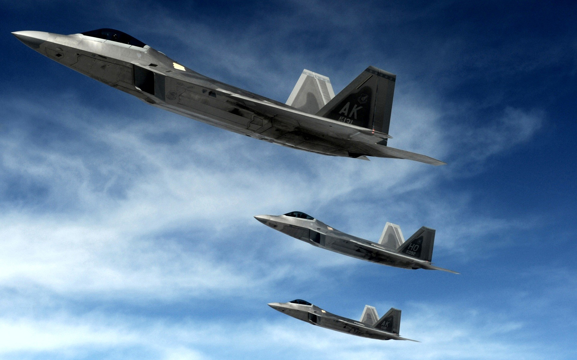 1920x1200 F 22 Raptors Stealth Fighters