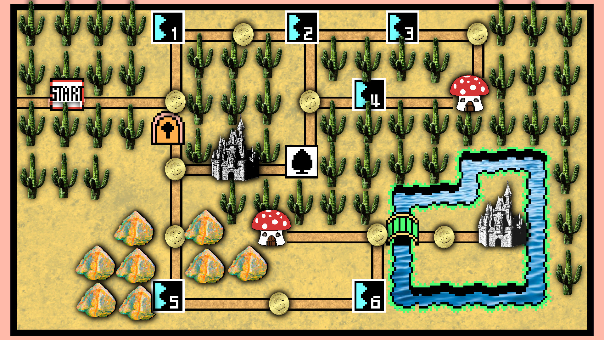 1920x1080 ... Super Mario World 3 Map~ by JollyPotato