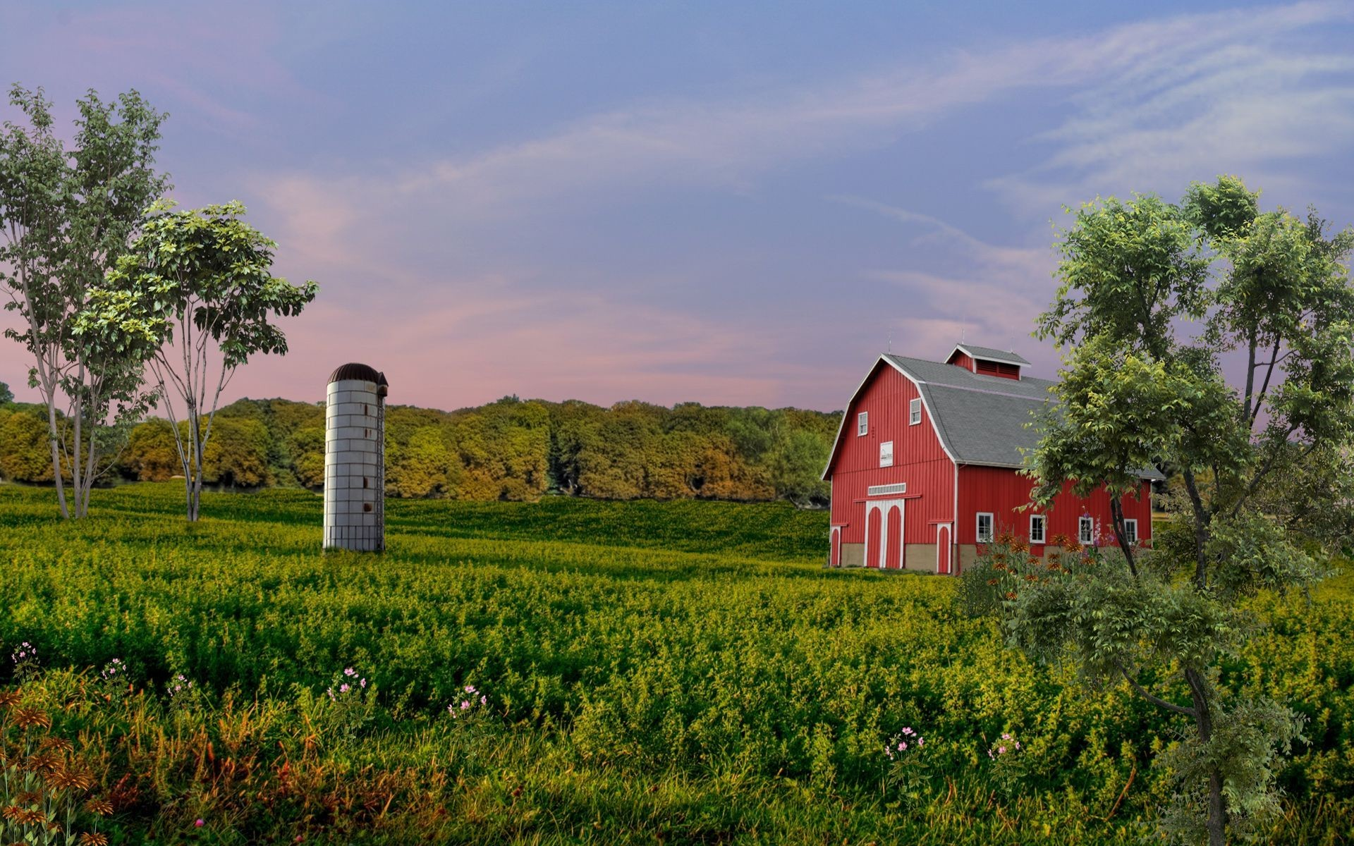 "1920x1200 1280x800 country | old country barn wallpaper surreal country scene  wallpaper"">"