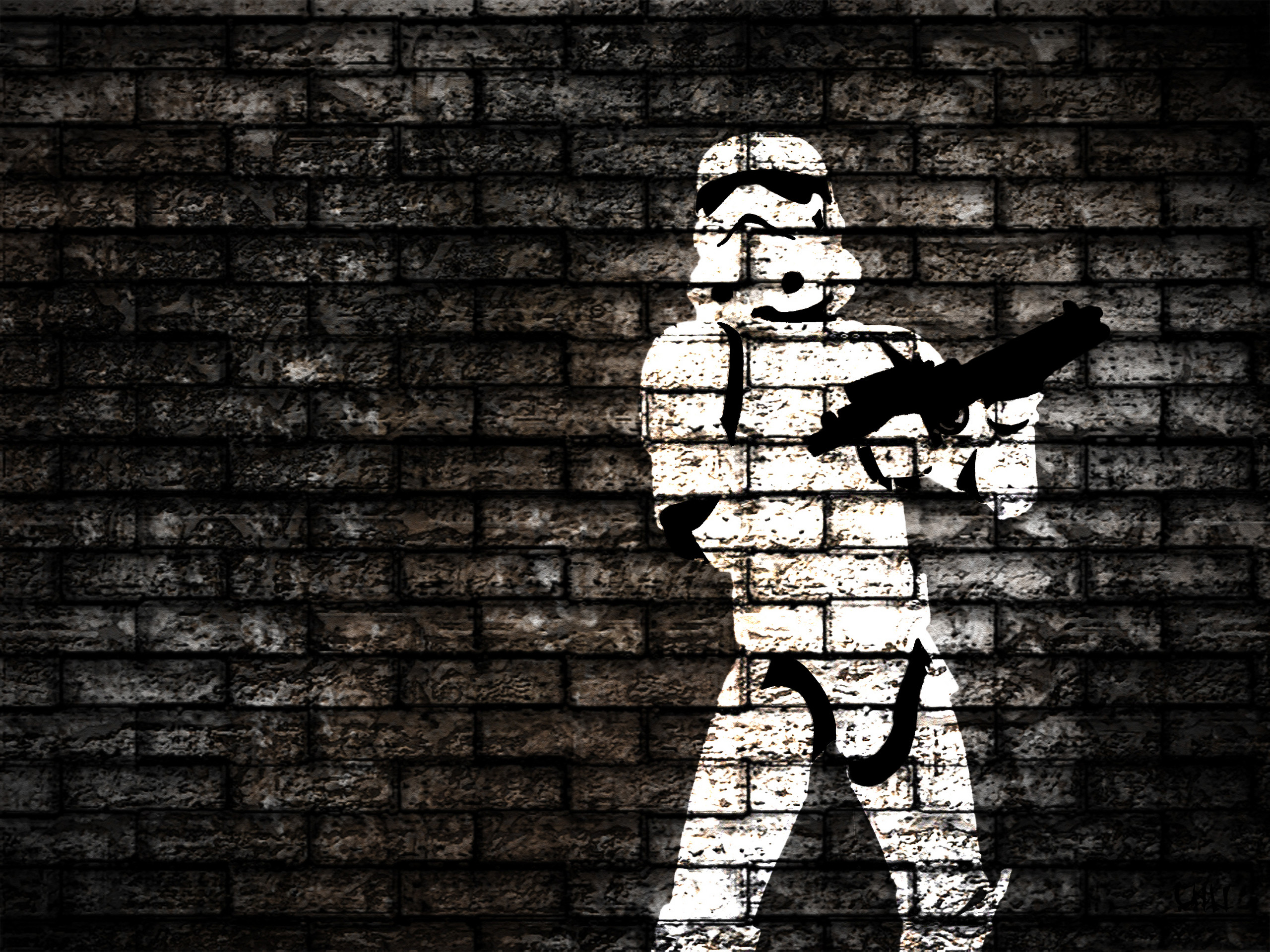 2560x1920 I made this wallpaper with photoshop.HD Wallpaper and background photos of Stormtrooper  Wallpaper for fans of Star Wars images.
