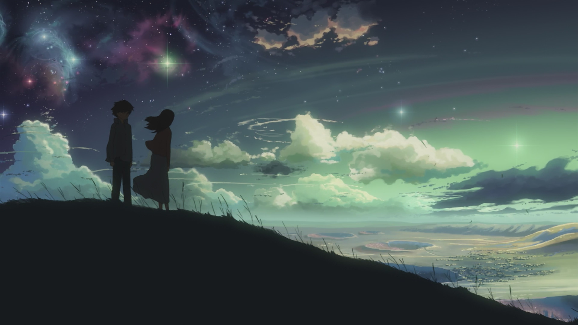 1920x1080 anime Sky Centimeters Per Second Wallpapers HD Desktop and