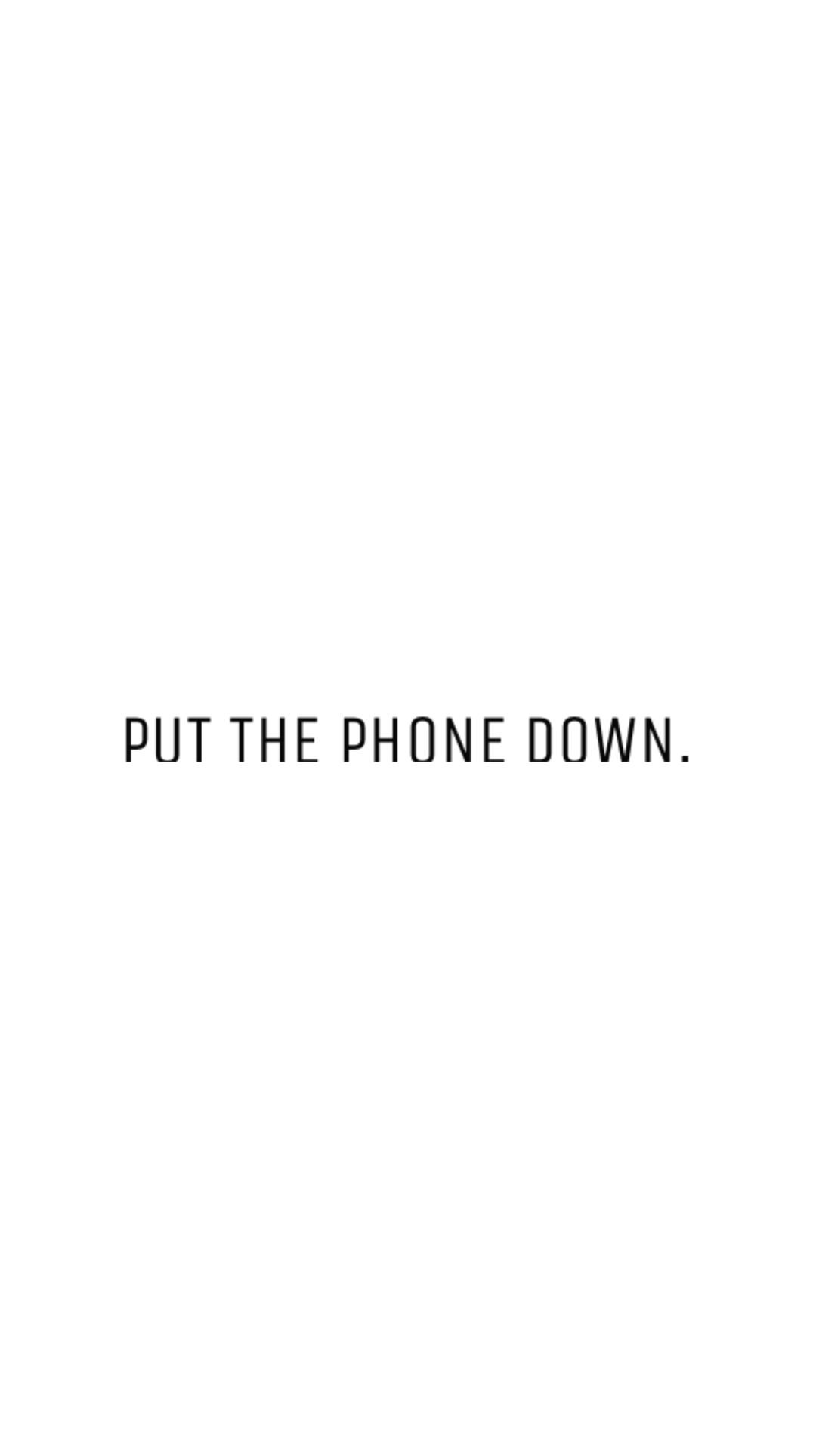 "1084x1927 Letter J iPhone Wallpaper Fresh Free Minimal Phone Wallpaper ""put the Phone  Down """