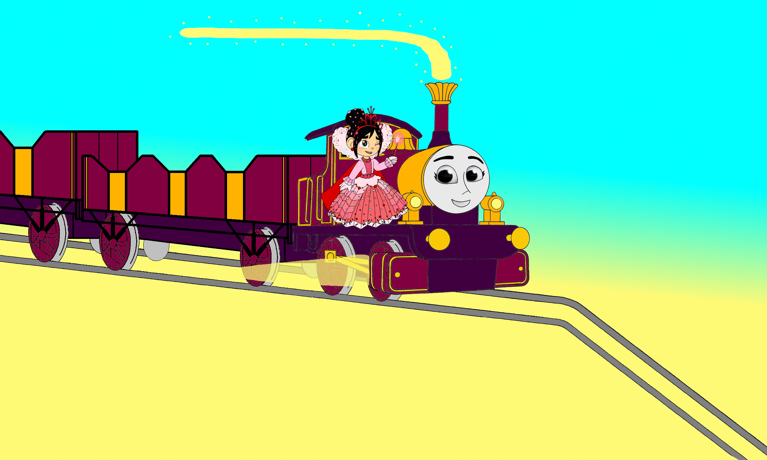 2500x1500 Thomas the Tank Engine images Lady & Vanellope go down the Mountain Hill HD  wallpaper and background photos