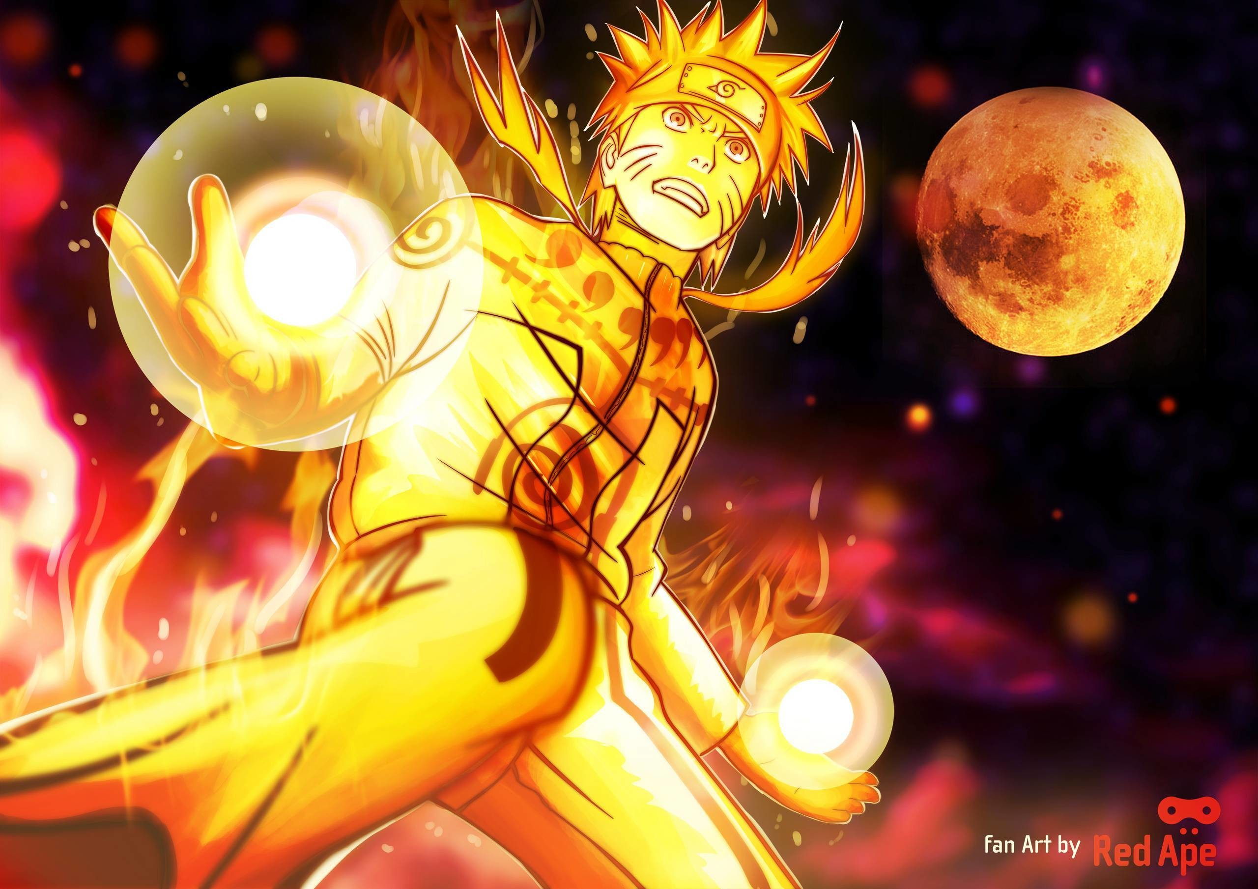 2560x1810 Naruto Nine Tails Wallpapers Wallpaper Cave