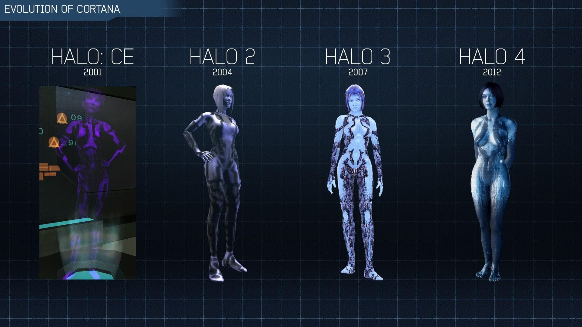 1920x1080 Video games Cortana Halo evolution Halo 4 Halo 2 wallpaper | 1920x1080 .