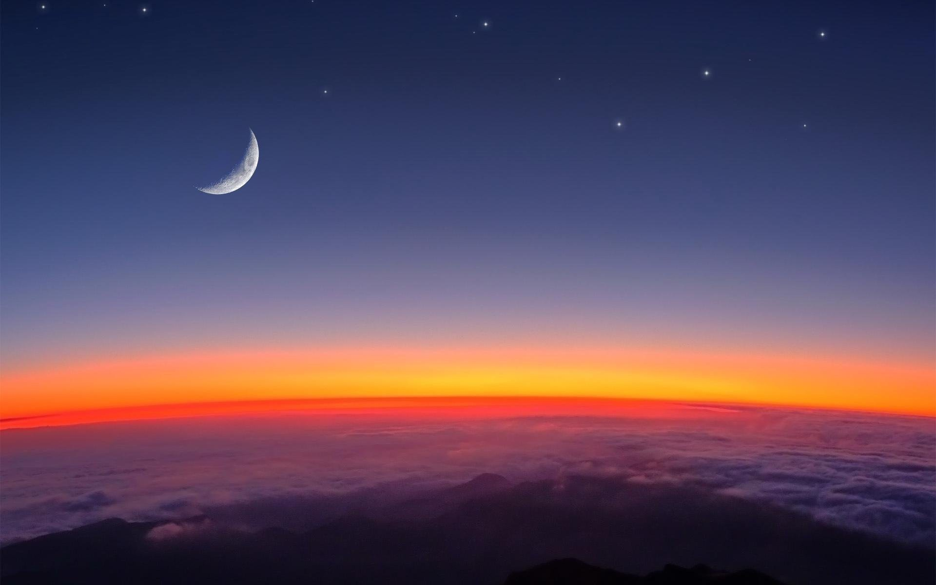 1920x1200 Bild: Leuchtende Nacht Above The Sky.j wallpapers and stock photos. Â«
