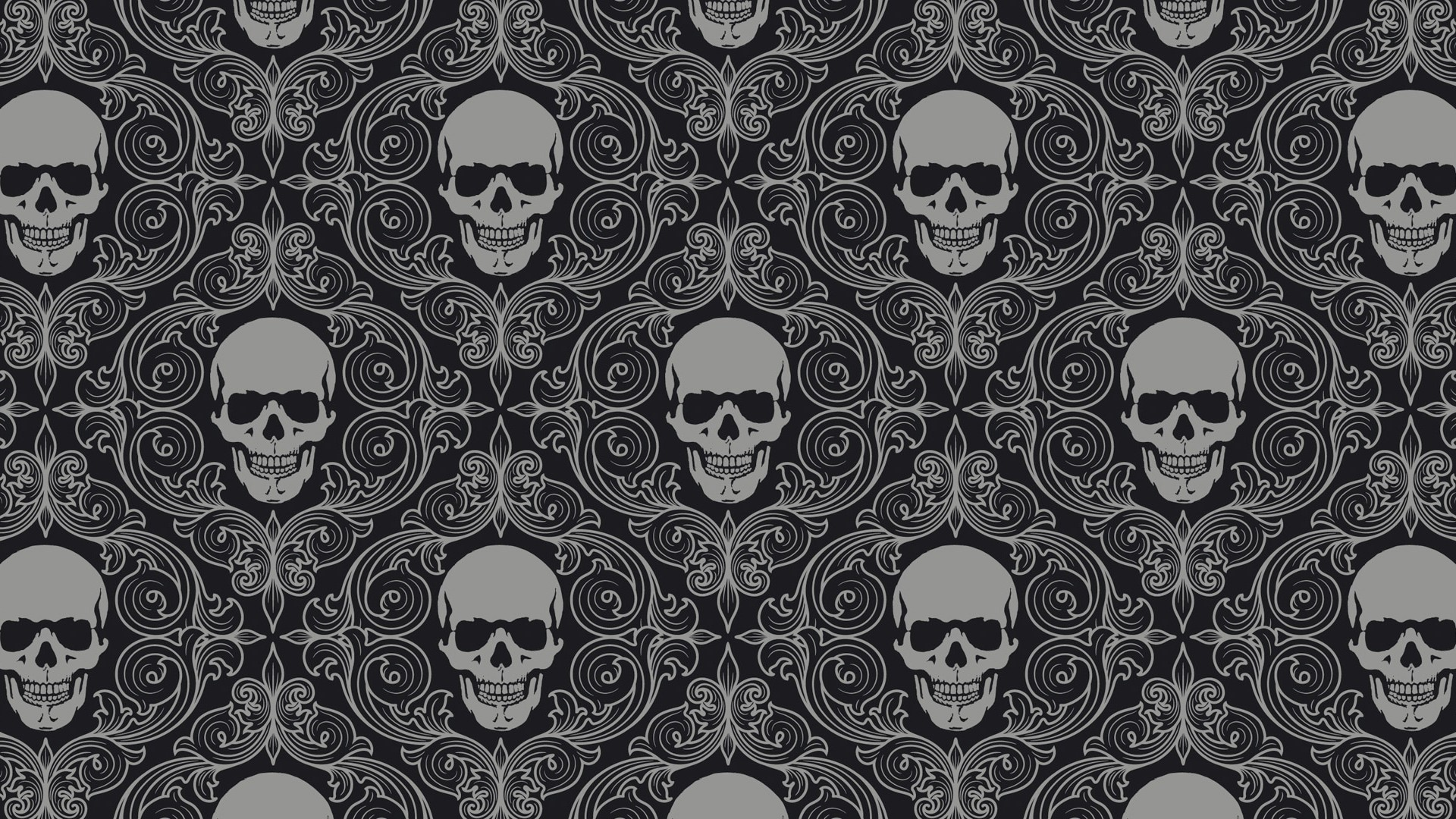 1920x1080 Preview wallpaper skull, drawing, gray, texture