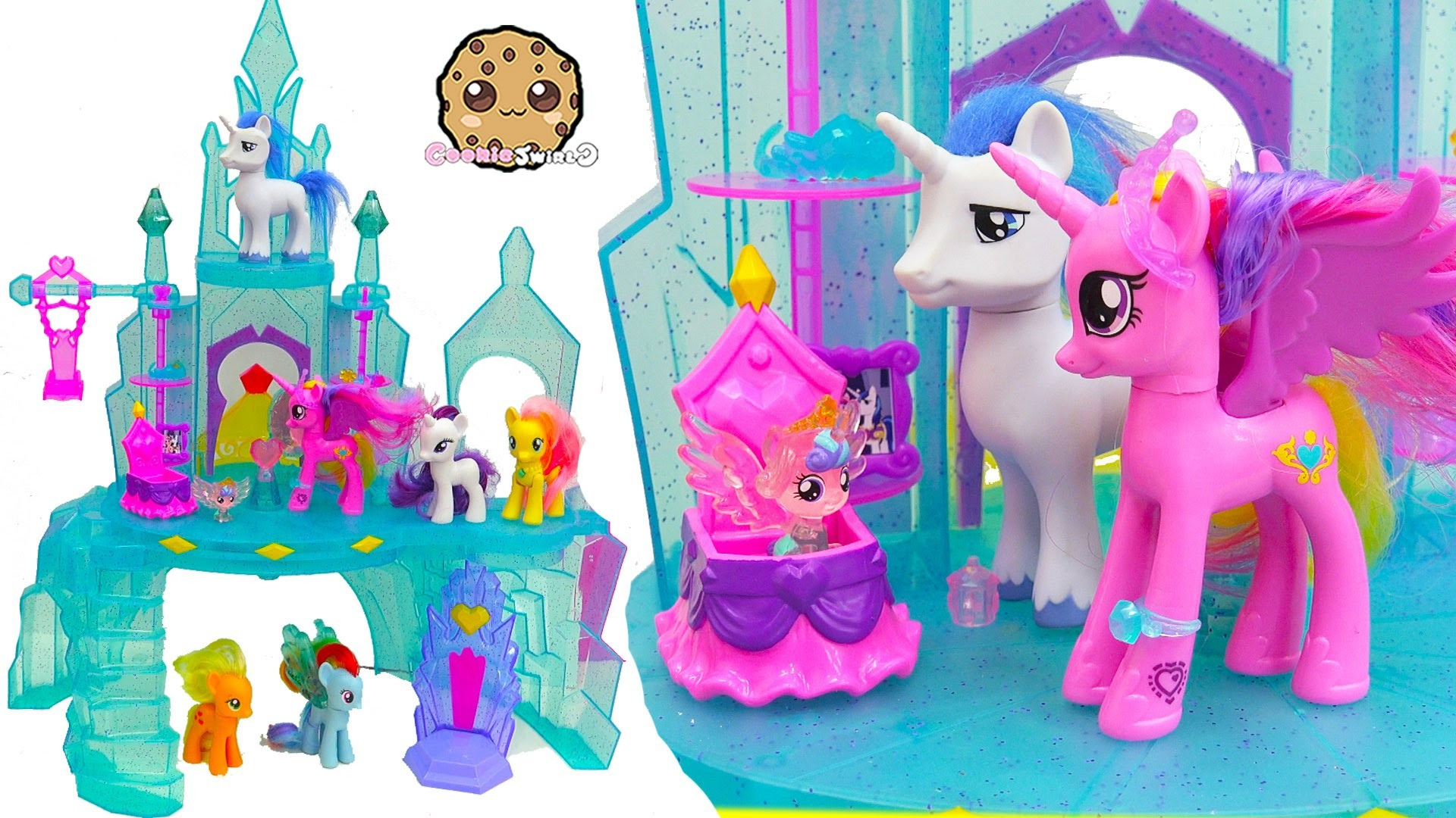 1920x1080 My Little Pony Crystal Empire Castle with Baby Flurry Heart, Princess  Cadance, Shining Armor - YouTube