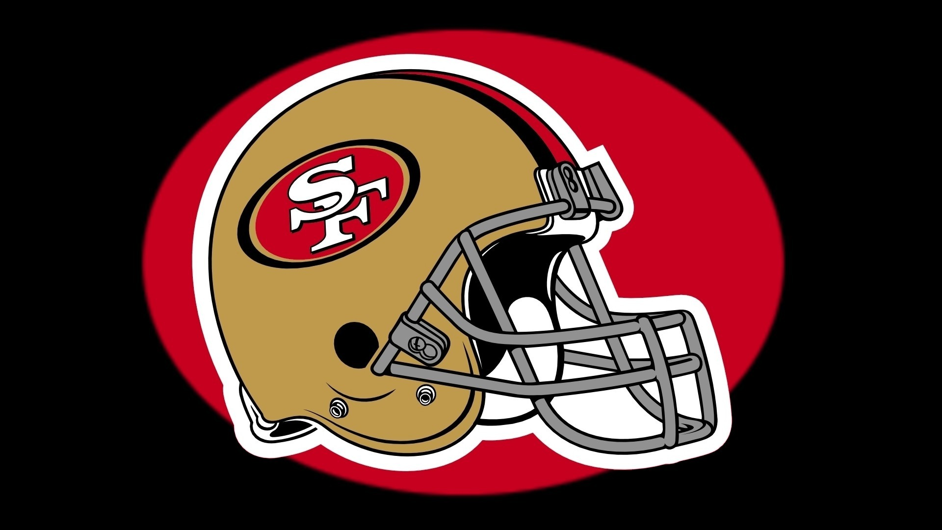 1920x1080 san francisco 49ers helmet logo on black baground