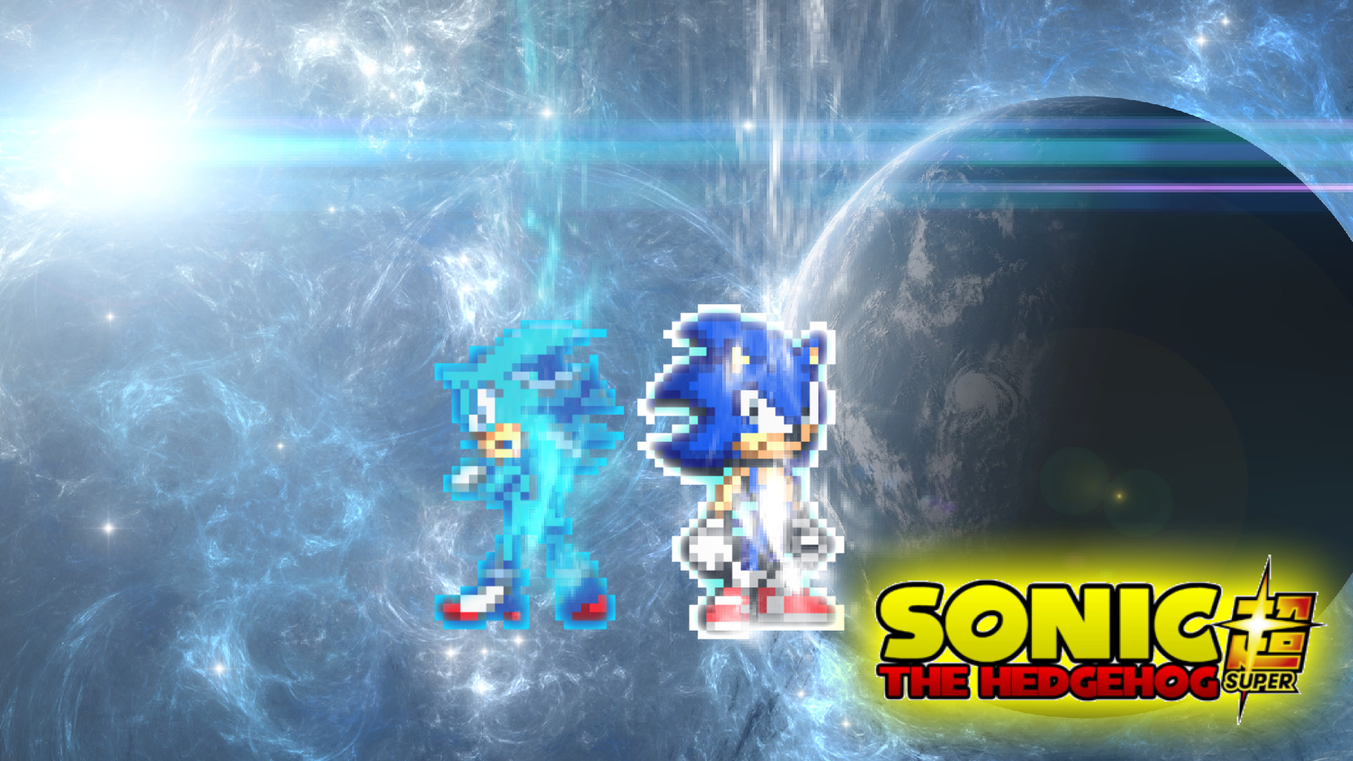 1920x1080 ... DrizzlyScroll1996 UI Sonic and Beyond Super Shadow Blue Wallpaper. by  DrizzlyScroll1996
