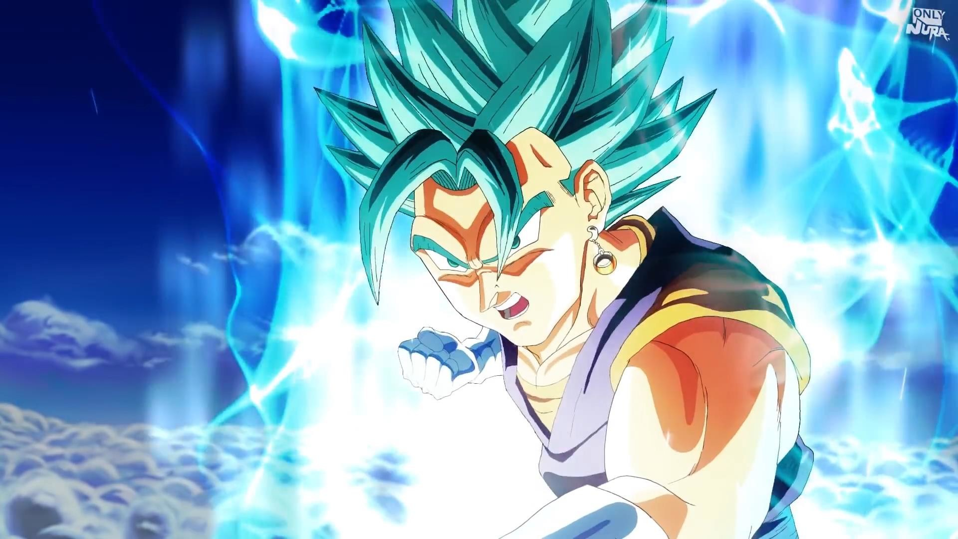 Son Goku Blue Wallpaper 4k