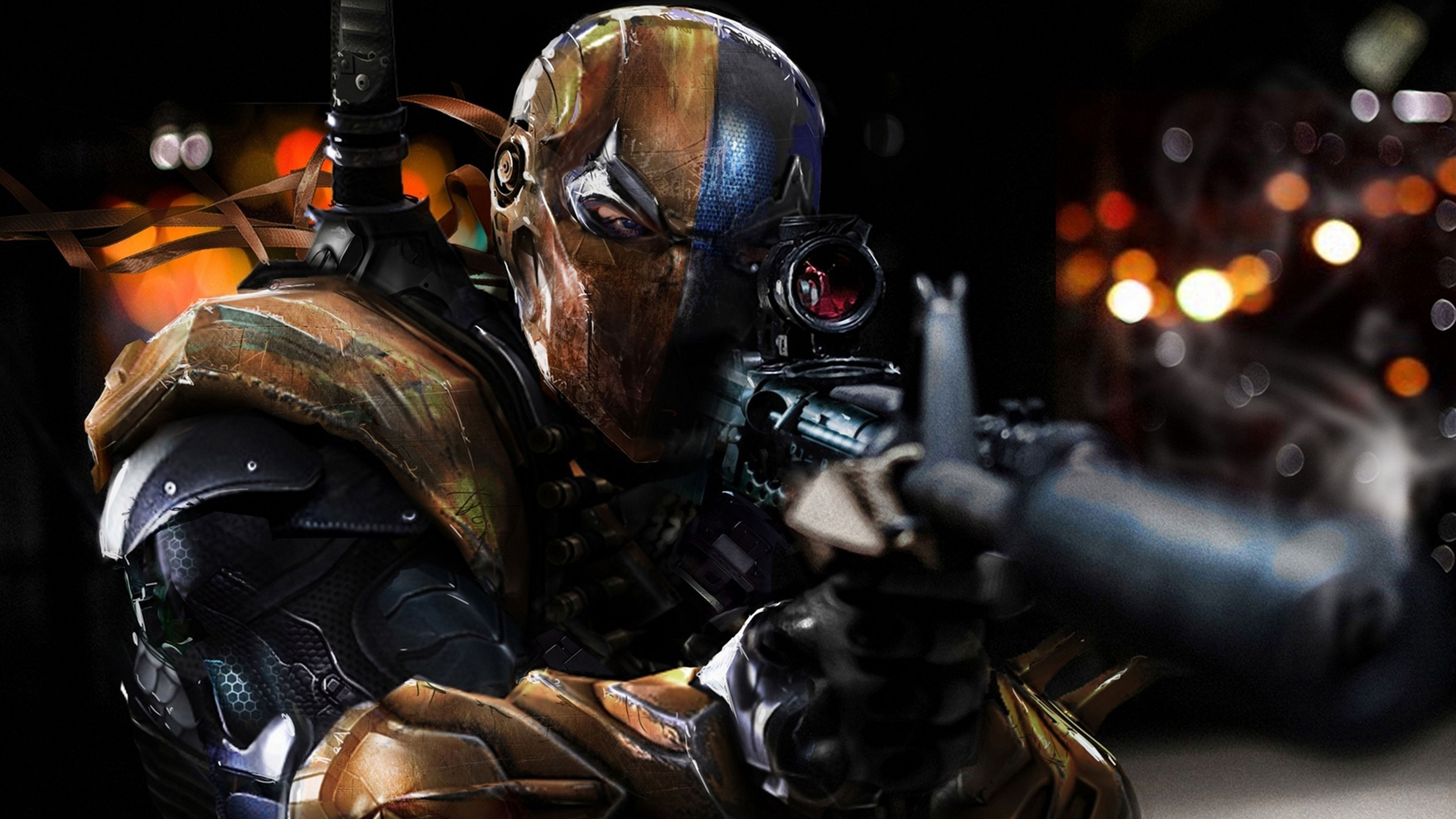 3840x2160 Deathstroke, Batman: Arkham Origins Wallpapers HD / Desktop and Mobile  Backgrounds
