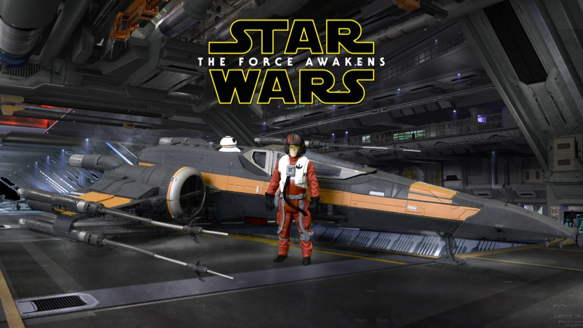 1920x1080 Star Wars The Force Awakens Poe's X-Wing Fighter with Poe Dameron Figure  from Hasbro - YouTube