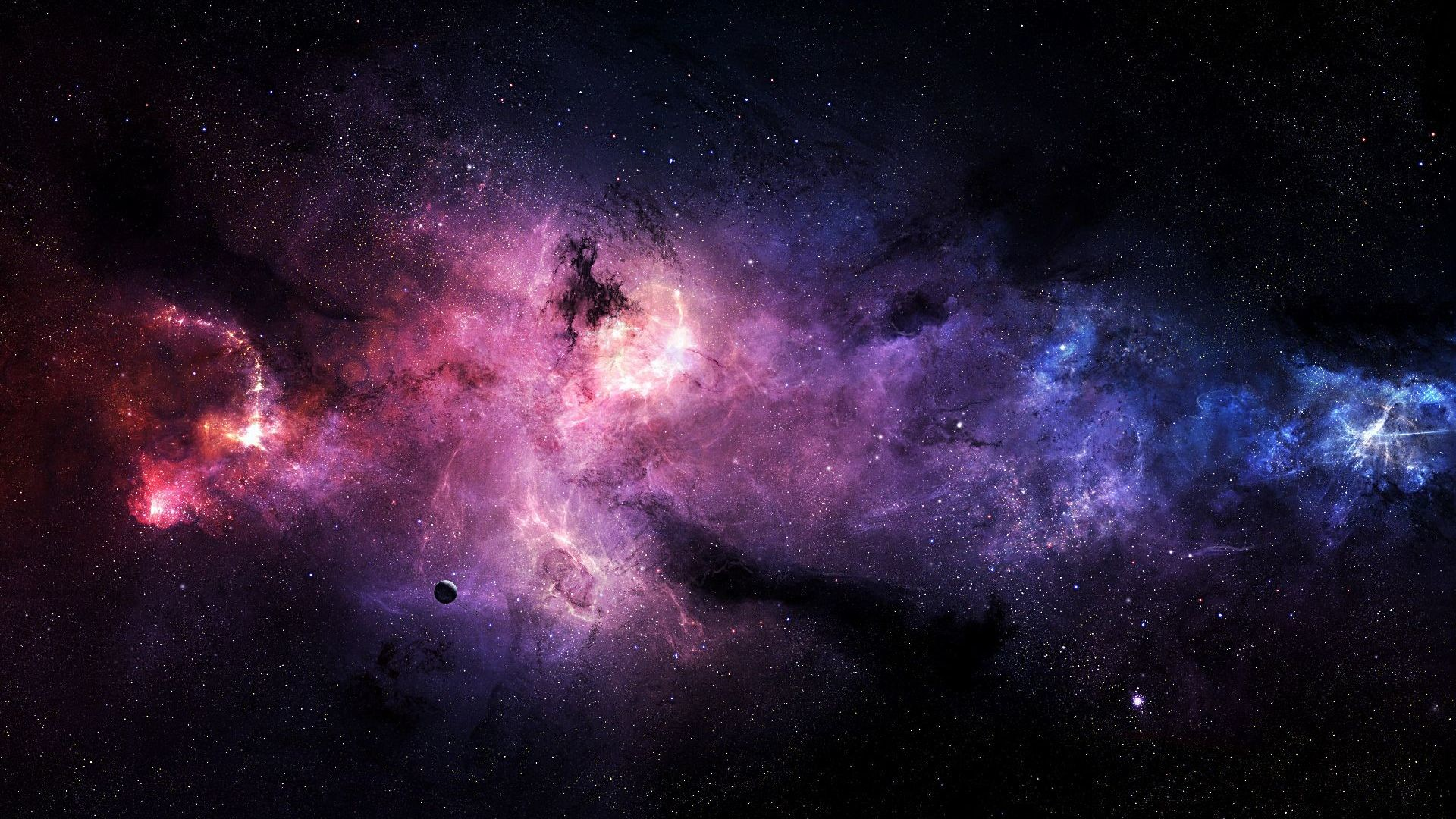 1920x1080 Purple Galaxy Wallpapers Picture ...