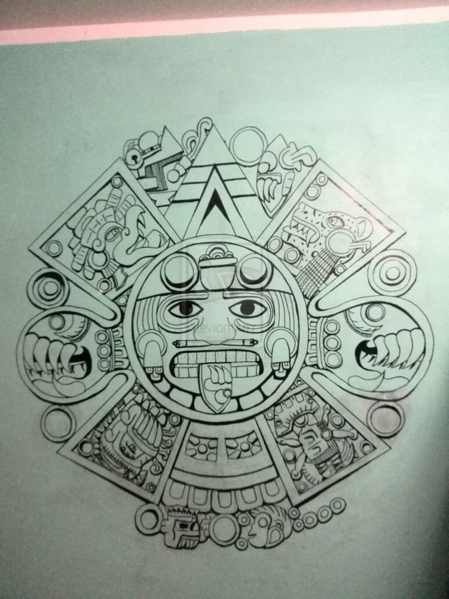 1548x2064 Aztec Calendar by AnickZamantha on @DeviantArt More