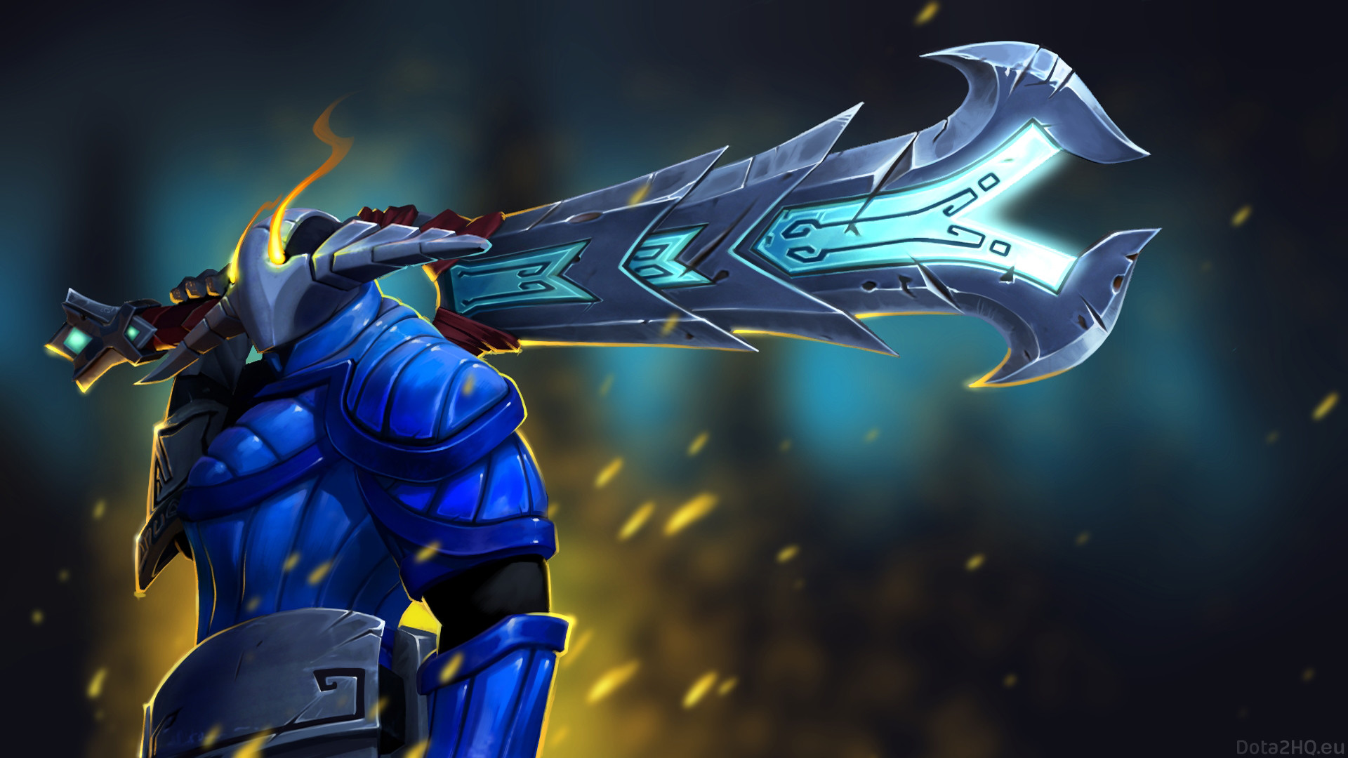 1920x1080 Preview wallpaper sven, furious rune sword, dota 2, art
