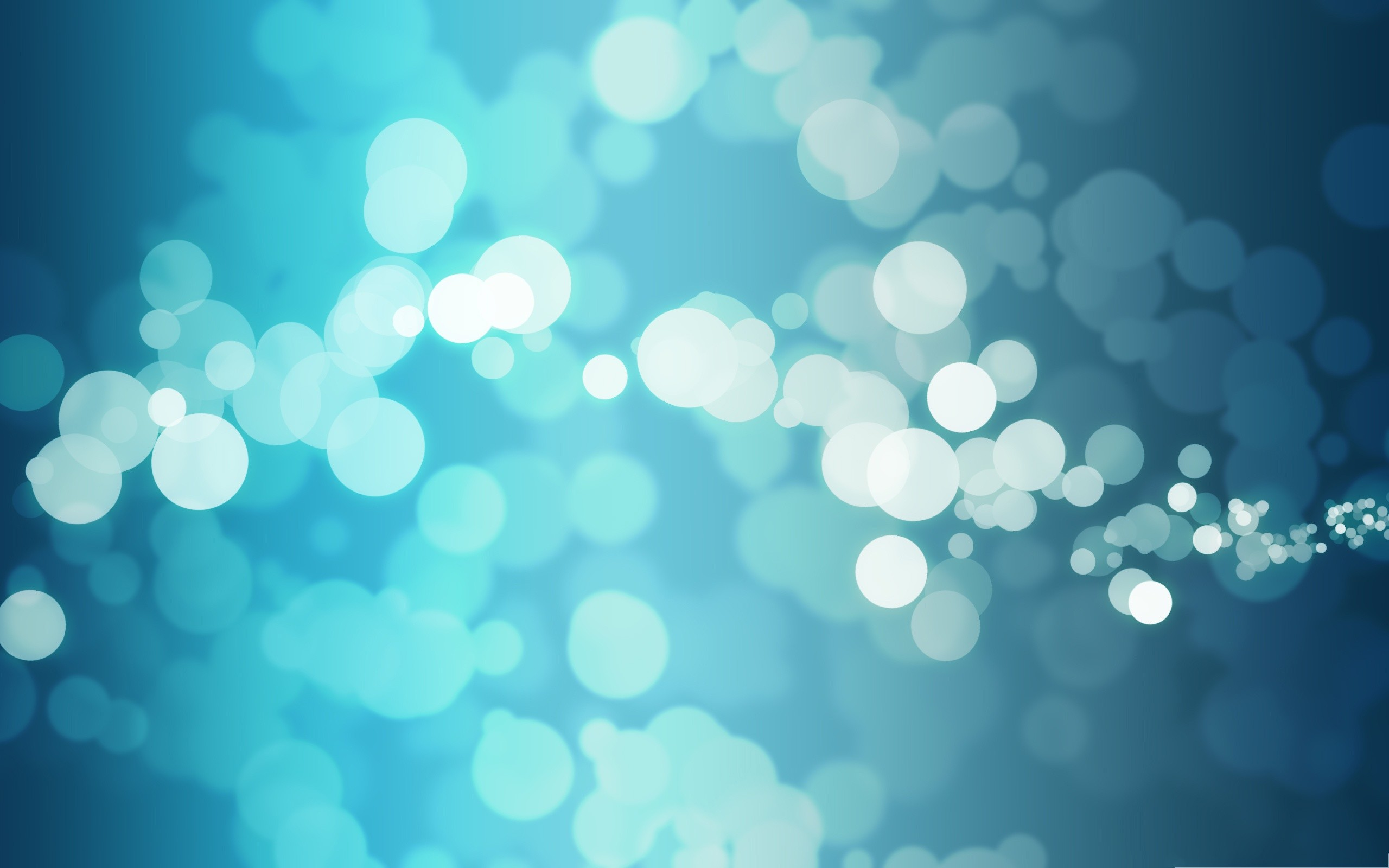 2560x1600 Free Blue Bubbles Wallpaper