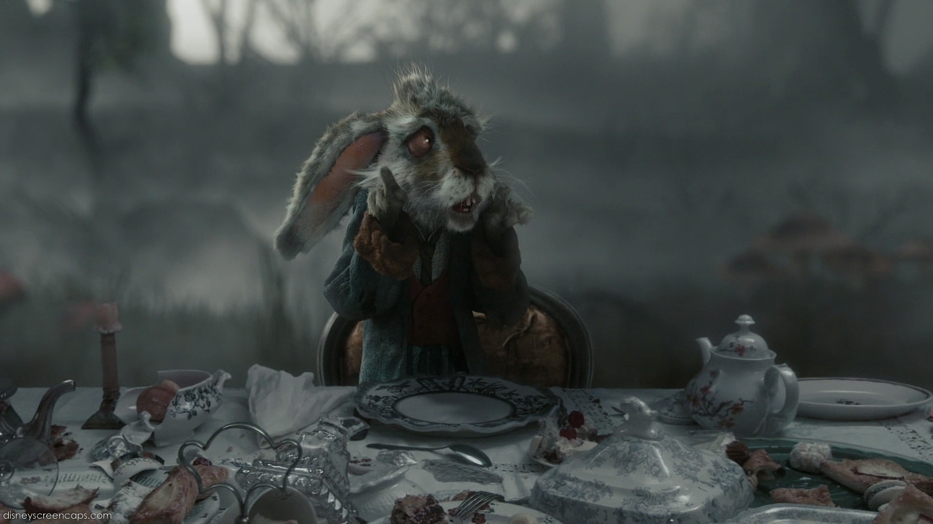 1920x1080 Alice in wonderland rabbit tim burton wallpaper - photo#26