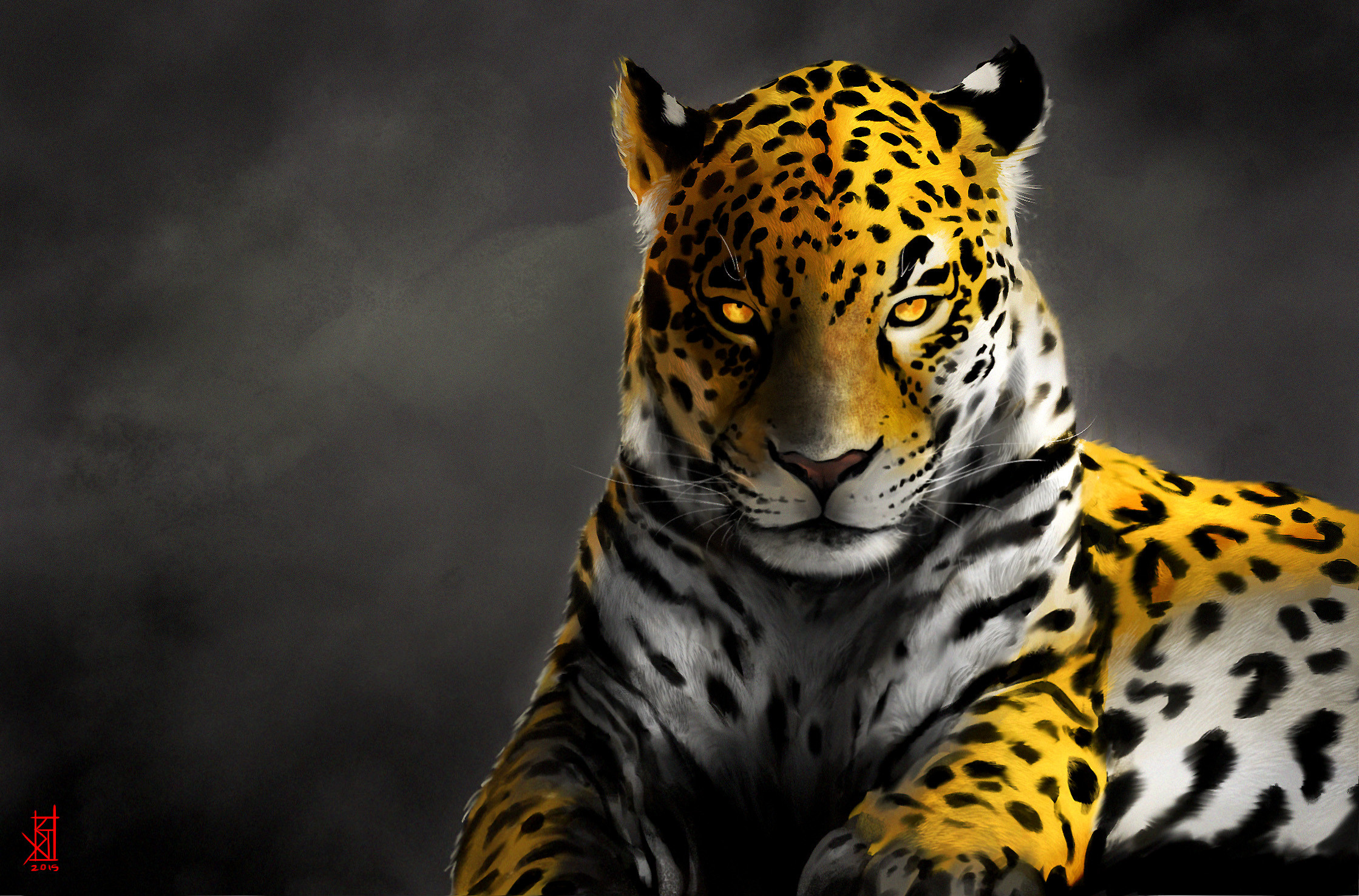 2239x1476 Fantasy - Animal Jaguar Wallpaper