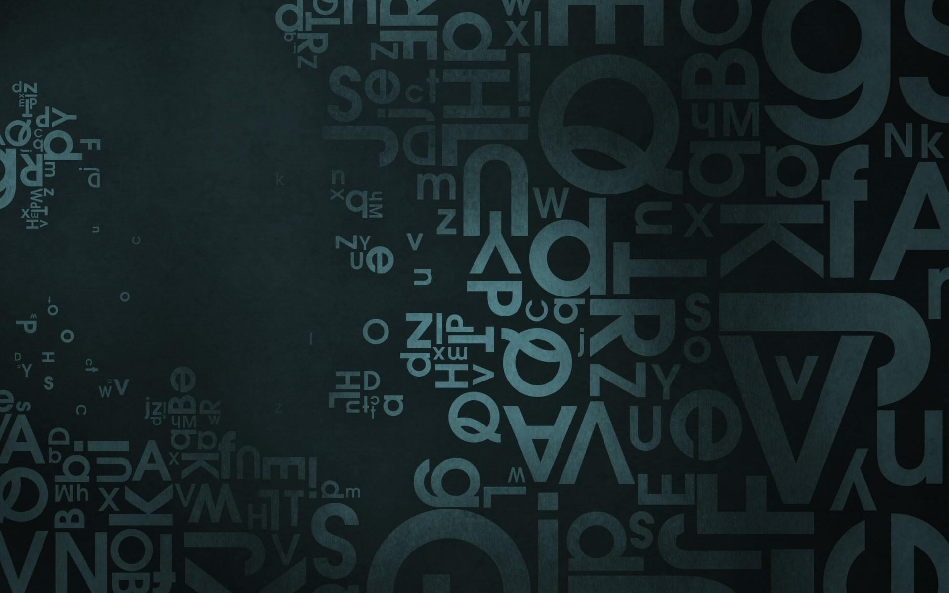 1920x1200 Letters Desktop Wallpaper 51099
