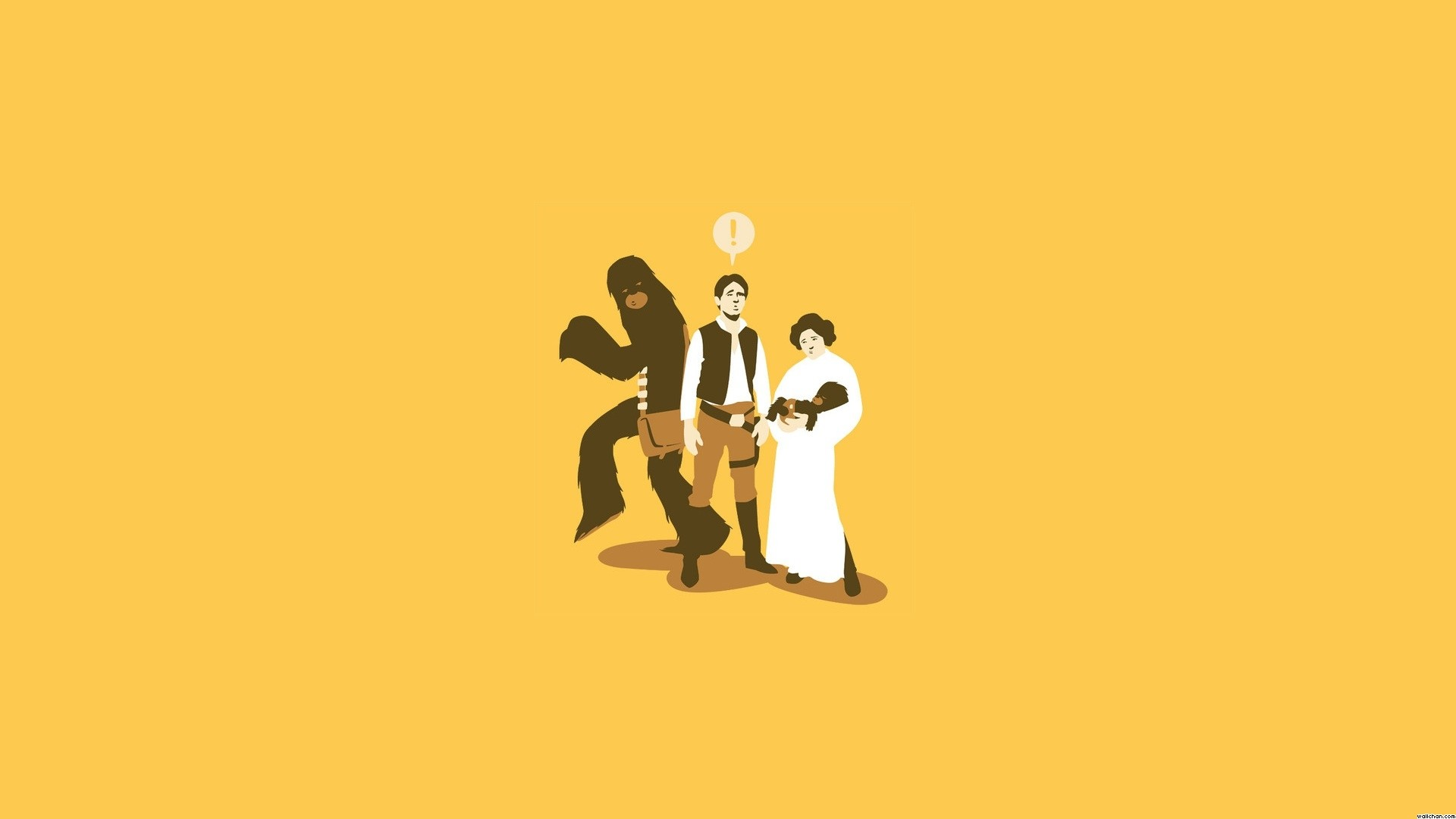 1920x1080 Star Wars images Funny Han, Leia Chewie Wallpaper HD wallpaper and  background photos