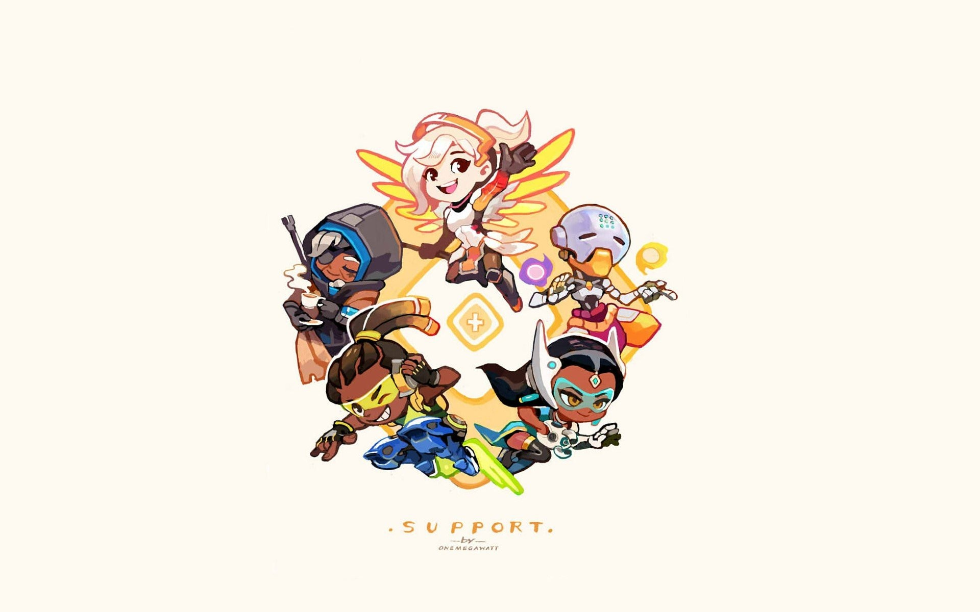 1920x1200 Lúcio (Overwatch), Zenyatta (Overwatch), Overwatch, Ana (Overwatch),  Symmetra (Overwatch), Mercy (Overwatch) HD Wallpapers / Desktop and Mobile  Images & ...
