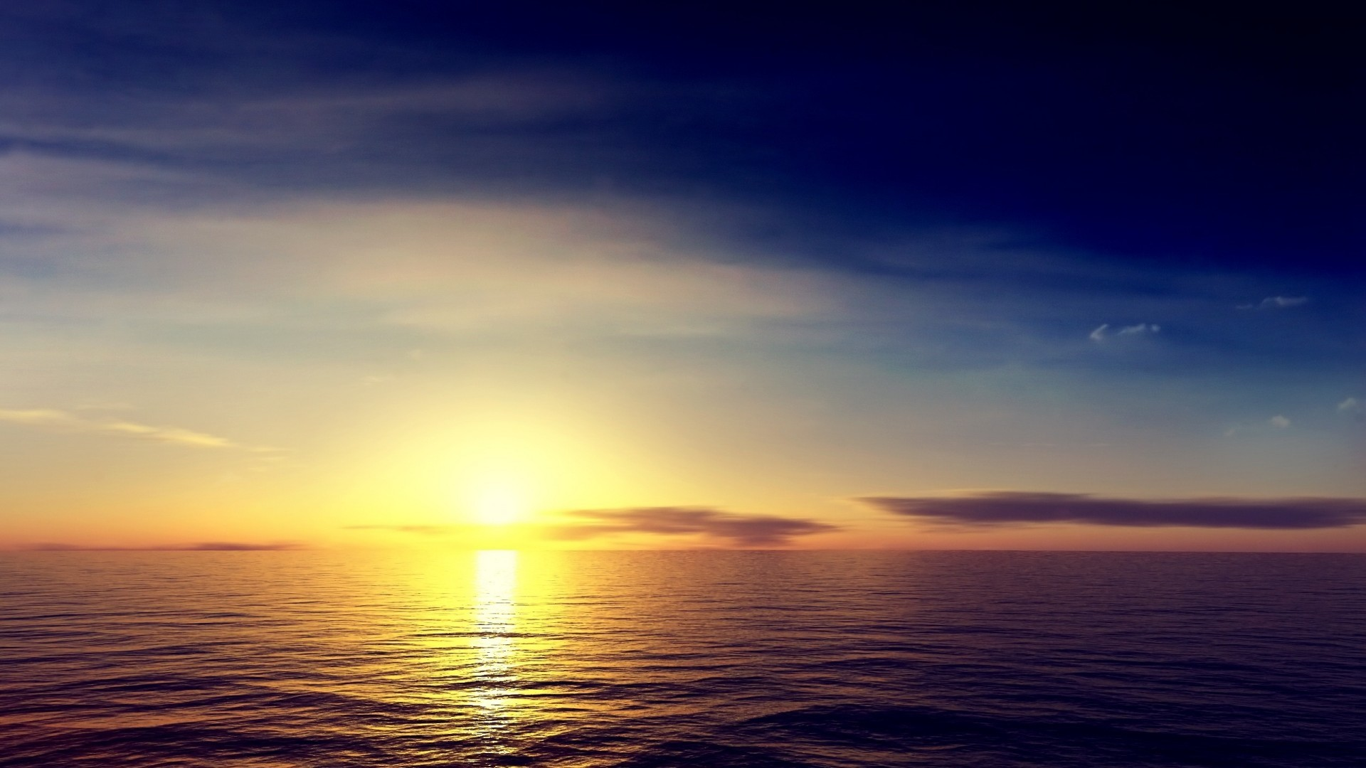 1920x1080 Ocean Sunrise Wallpaper