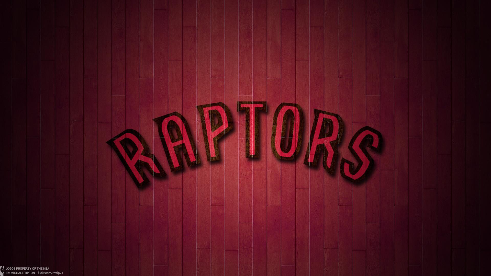 NBA 2017 Toronto Raptors Hardwood Logo Desktop Wallpaper
