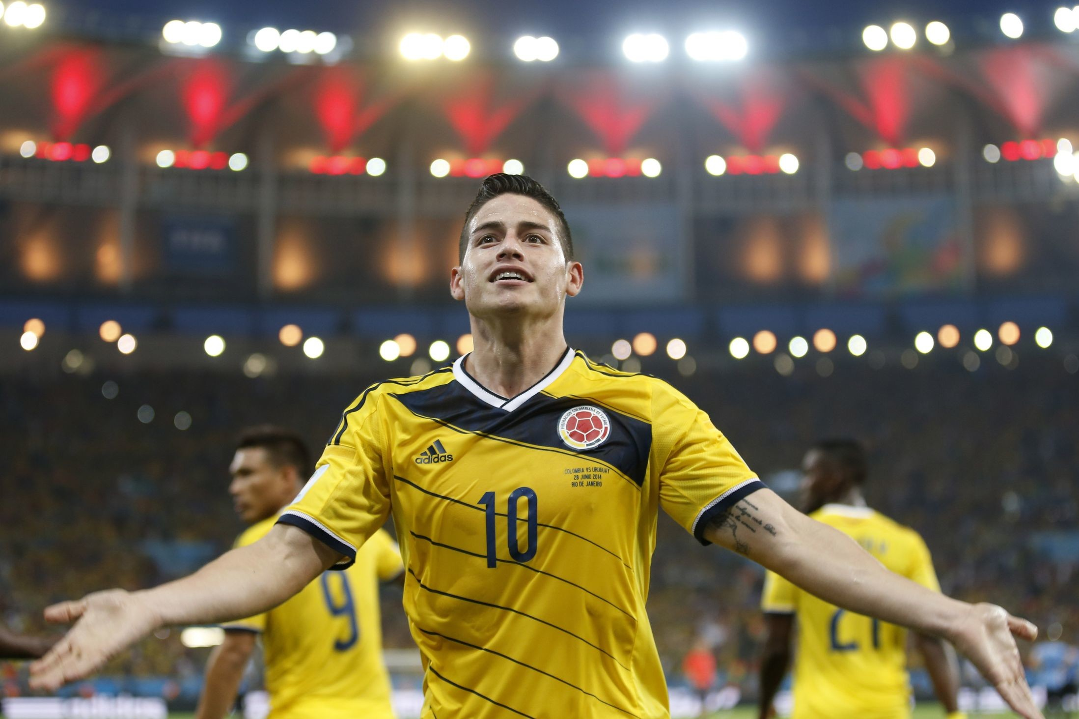 2197x1463 James Rodríguez wearing Colombia's jersey number 10