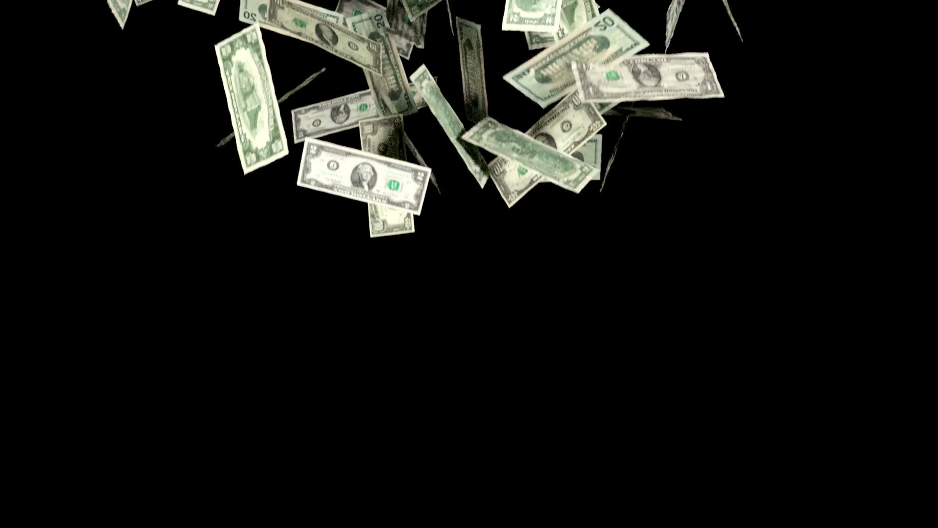 1920x1080 Money Falling In Slow Motion Dollars Financial Win US Currency Tax Motion  Background - VideoBlocks