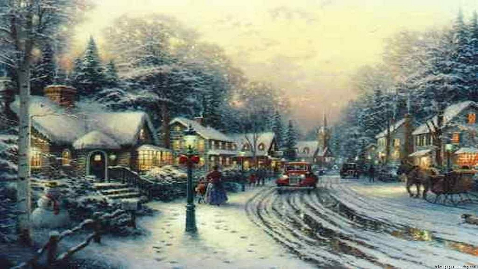 Thomas Kinkade Desktop Wallpaper Christmas (61+ images)