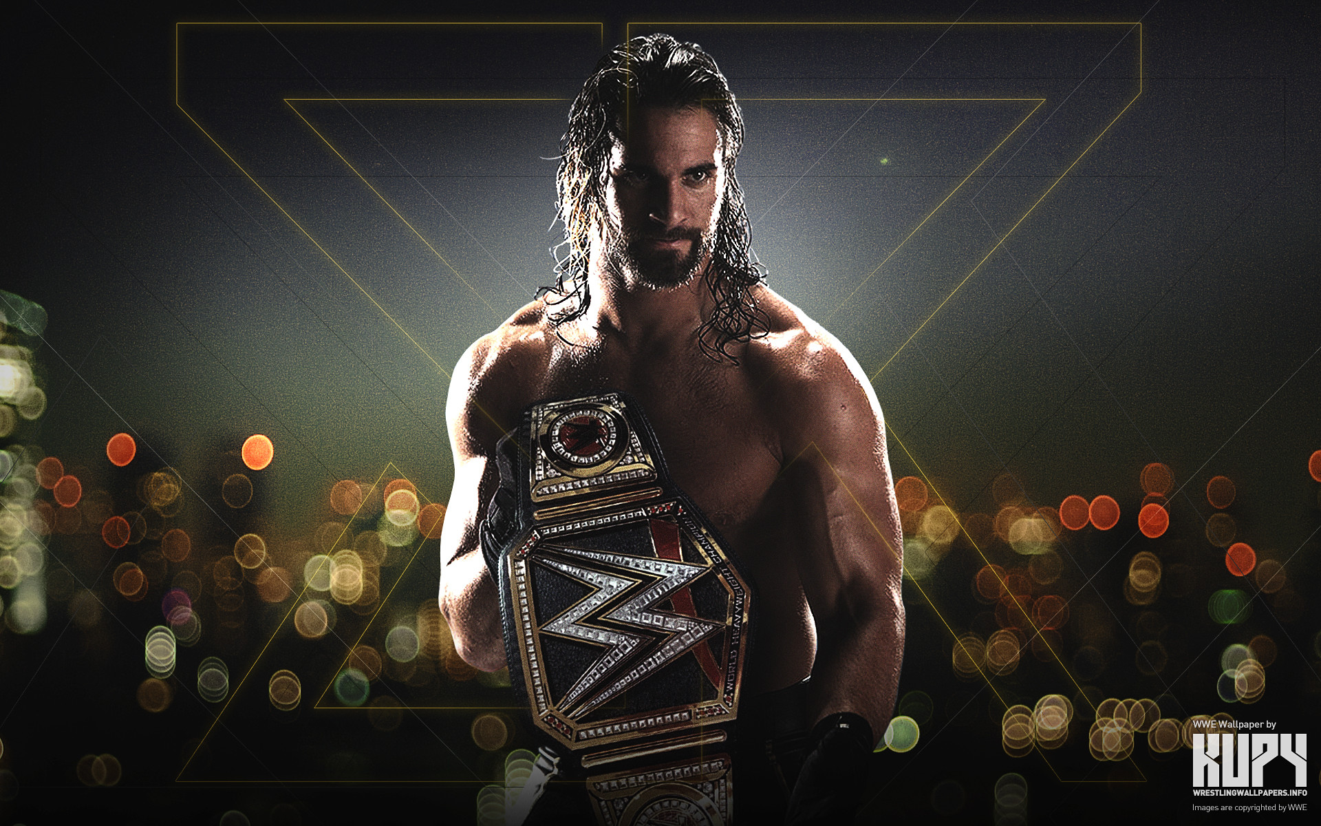 1920x1200 NEW Seth Rollins WWE World Heavyweight Champion wallpaper!
