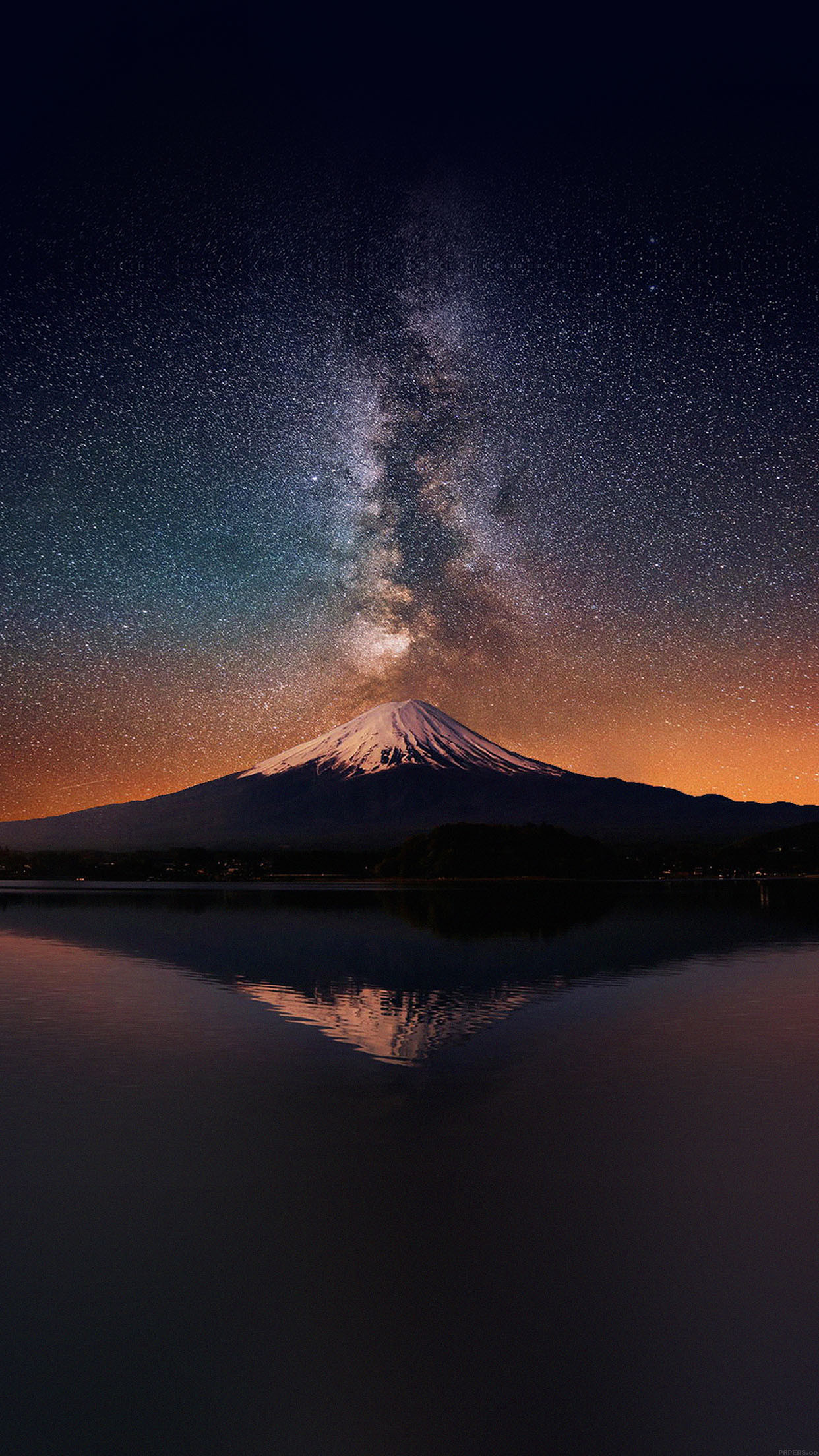 1242x2208 awesome wallpaper-milky-way-on-mountain-fuji-sky-iphone6